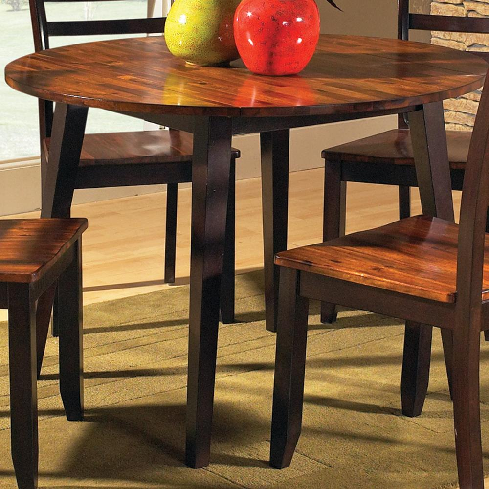 Abaco Solid Acacia Top 42 Round Drop Leaf Leg Table Morris Home Kitchen Table