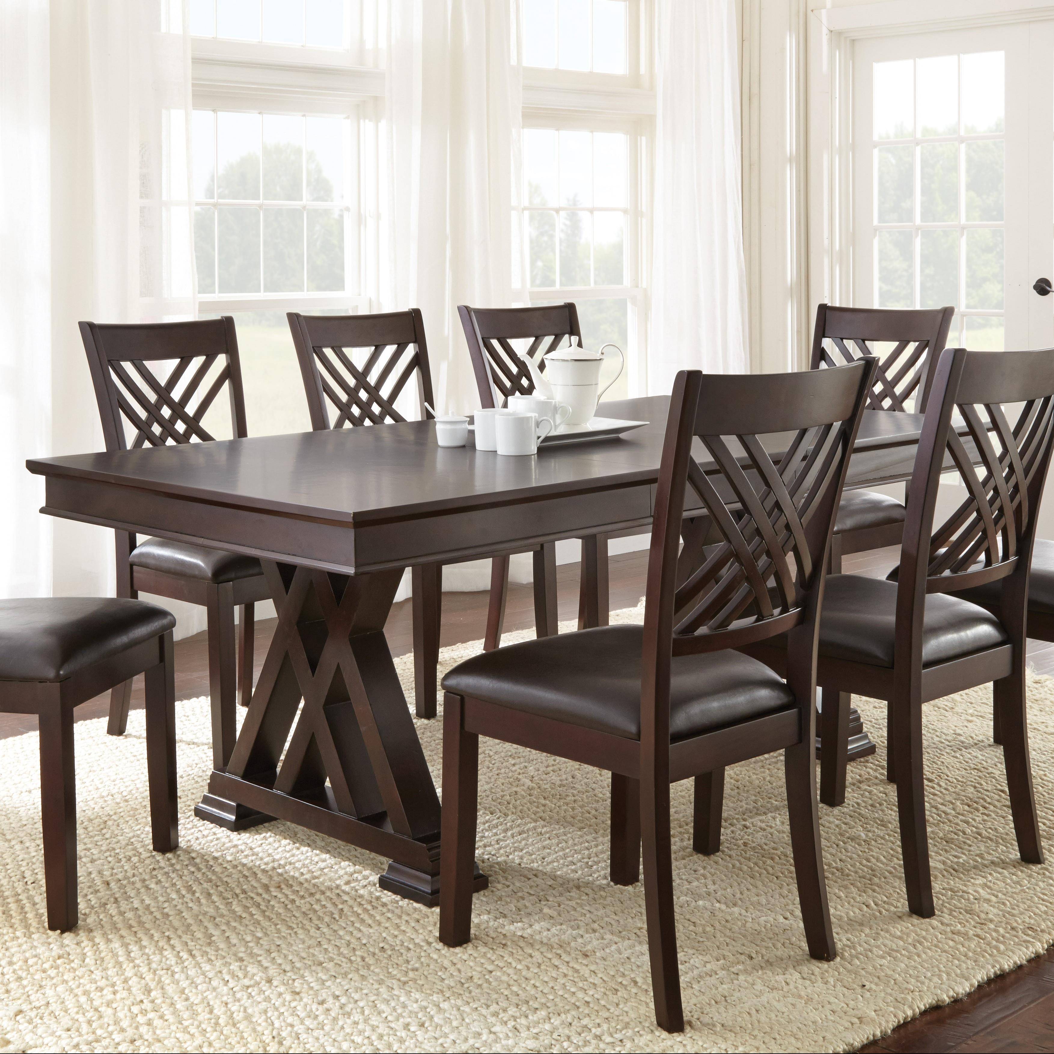 steve silver adrian x motif dining table and 18 leaf furniture superstore nm dining tables. Black Bedroom Furniture Sets. Home Design Ideas