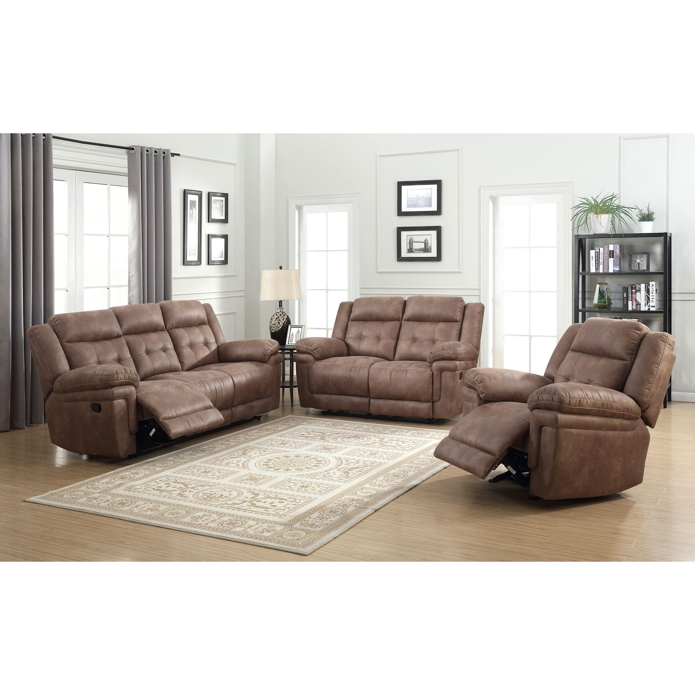 Anastasia Casual Reclining Sofa With Tufted Back Morris Home Reclining Sofas