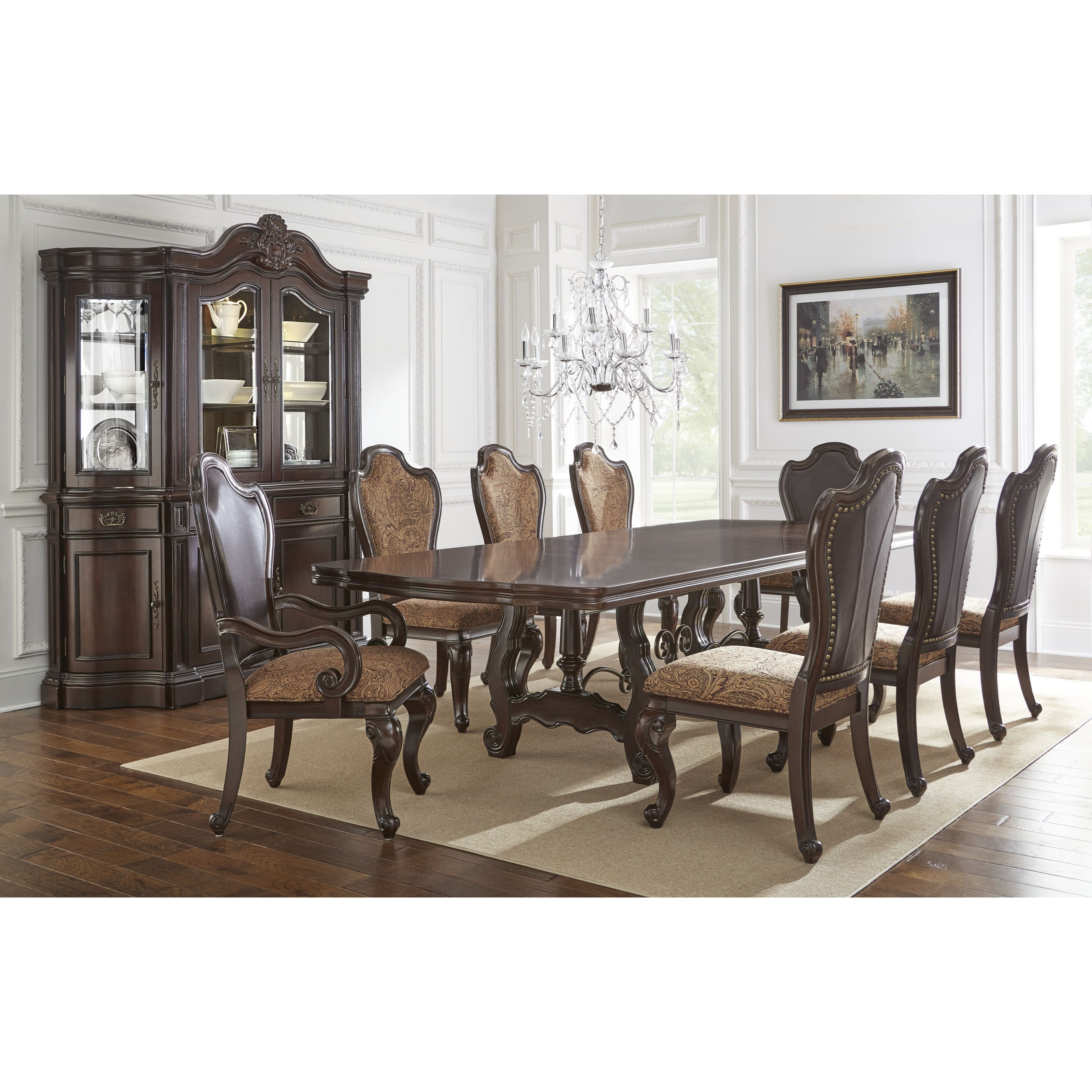 Steve Silver Angelina Double Pedestal Dining Table With