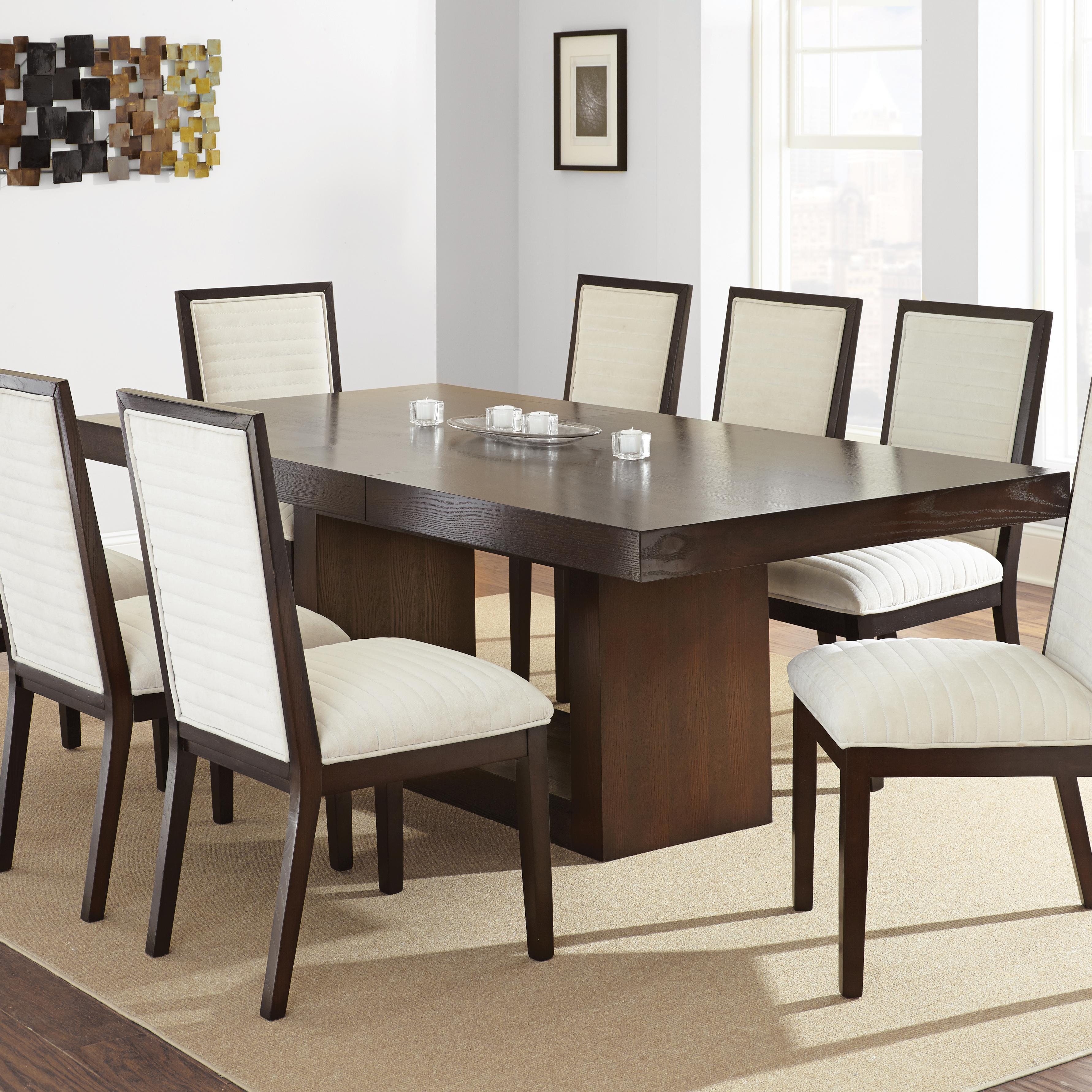 steve silver antonio dining table with contemporary pedestal base olinde 39 s furniture dining. Black Bedroom Furniture Sets. Home Design Ideas