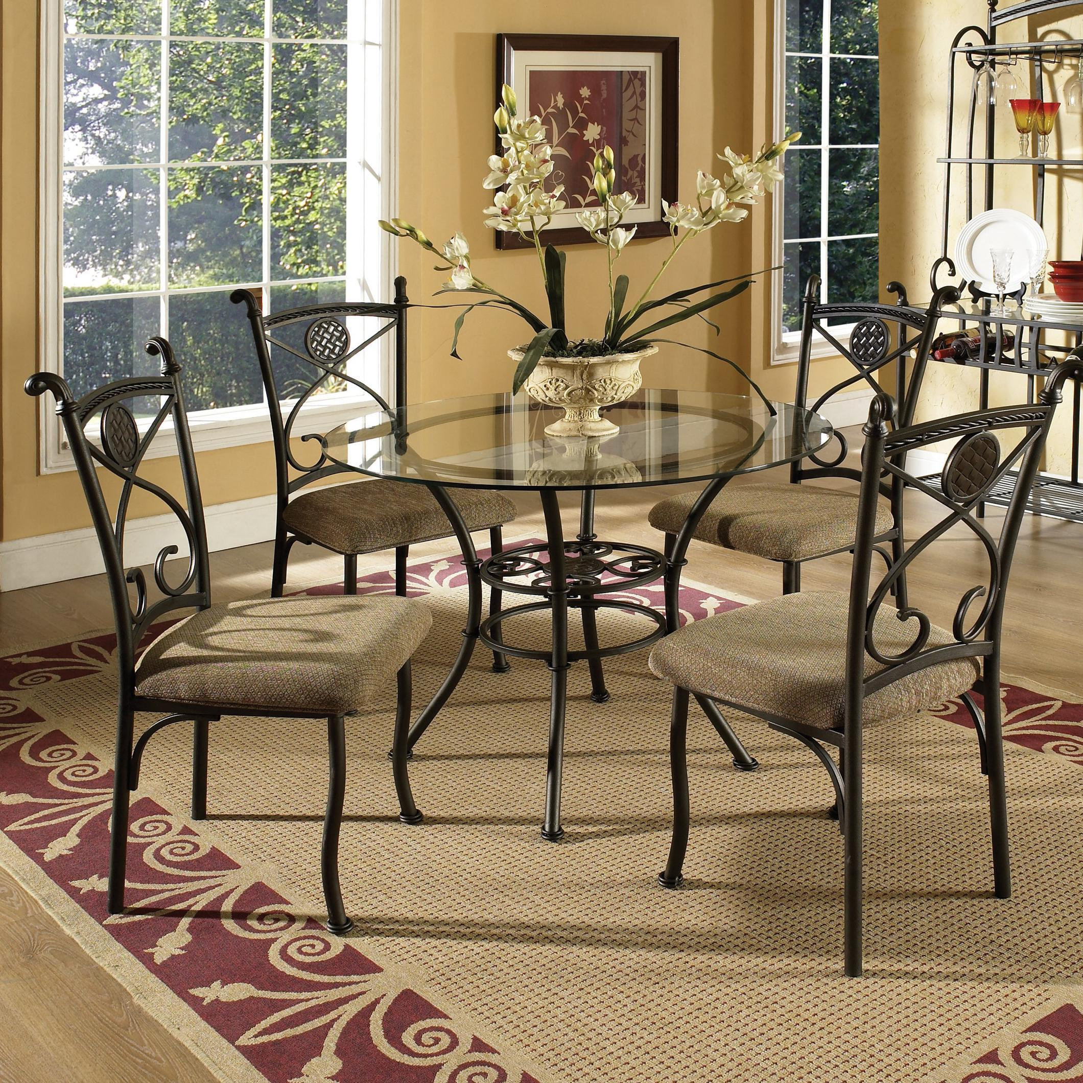 steve silver brookfield round glass top dining table 4
