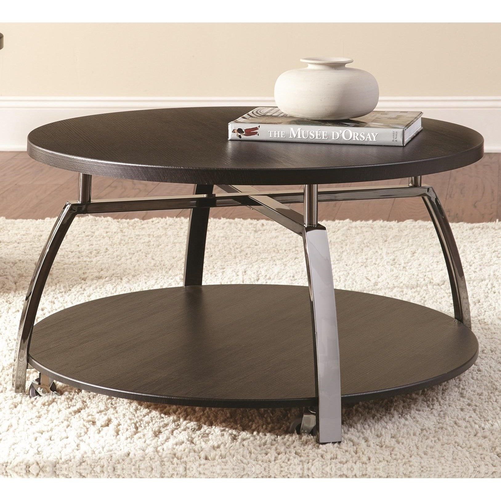 Coham round cocktail table morris home cocktail coffee for Morris home