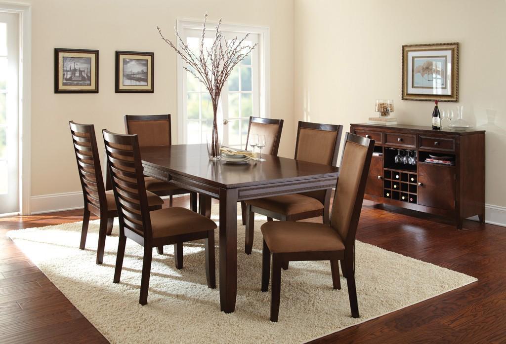 Steve silver cornell formal rectangular dining table with for Rectangular dining room tables with leaves