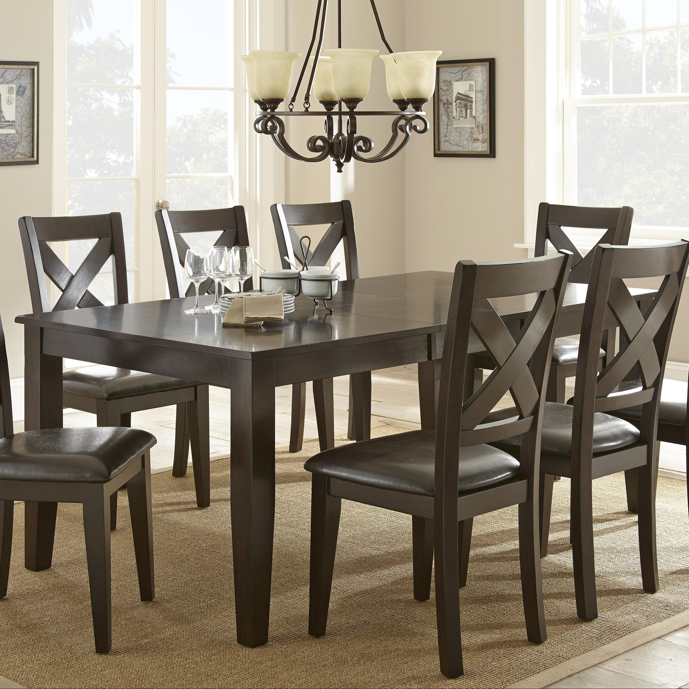 steve silver crosspointe dining table with 18 leaf
