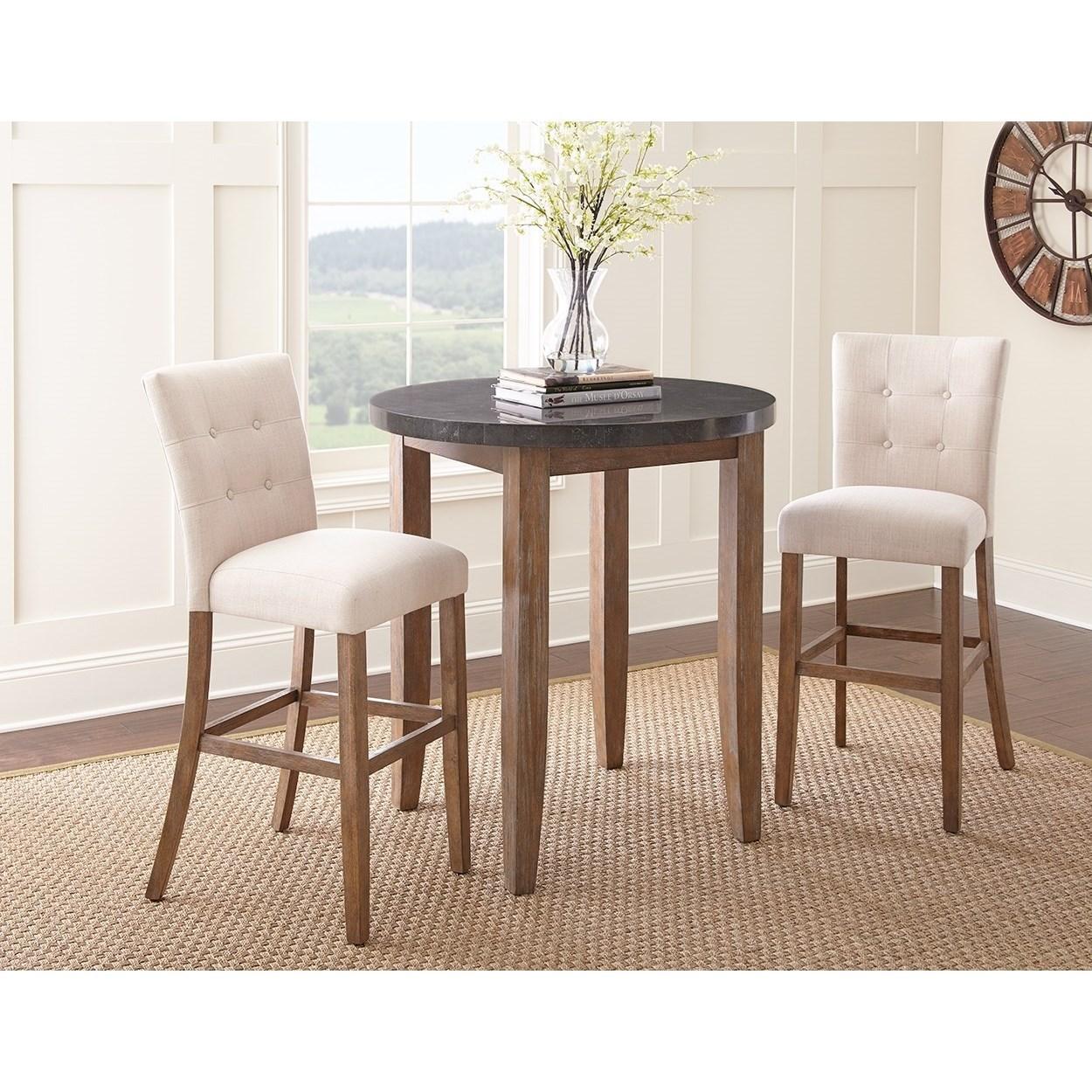 Debby upholstered bar chair morris home bar stools for Morris home