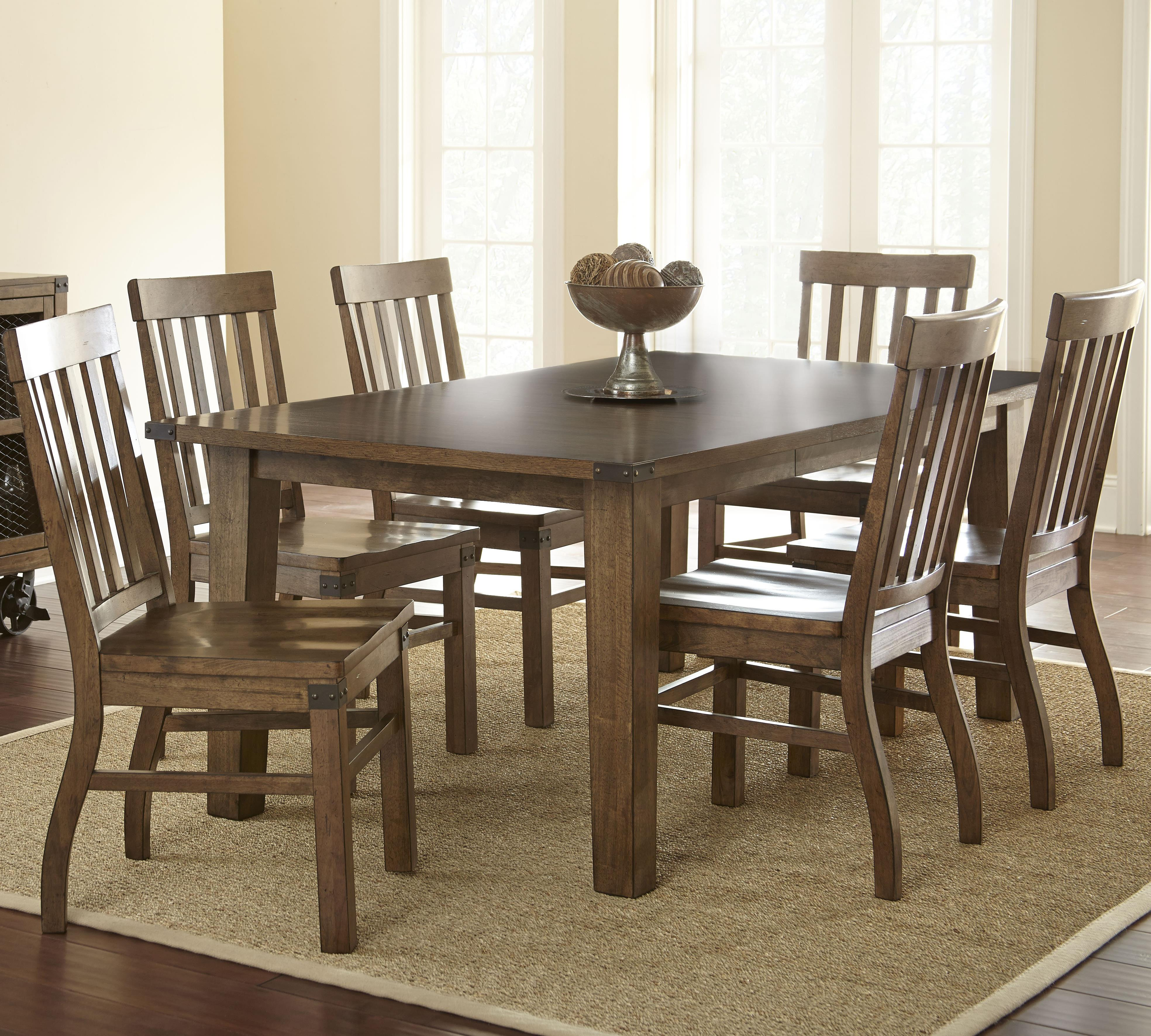 Steve silver hailee 7 piece dining set with 18 leaf for Dining room sets with leaf