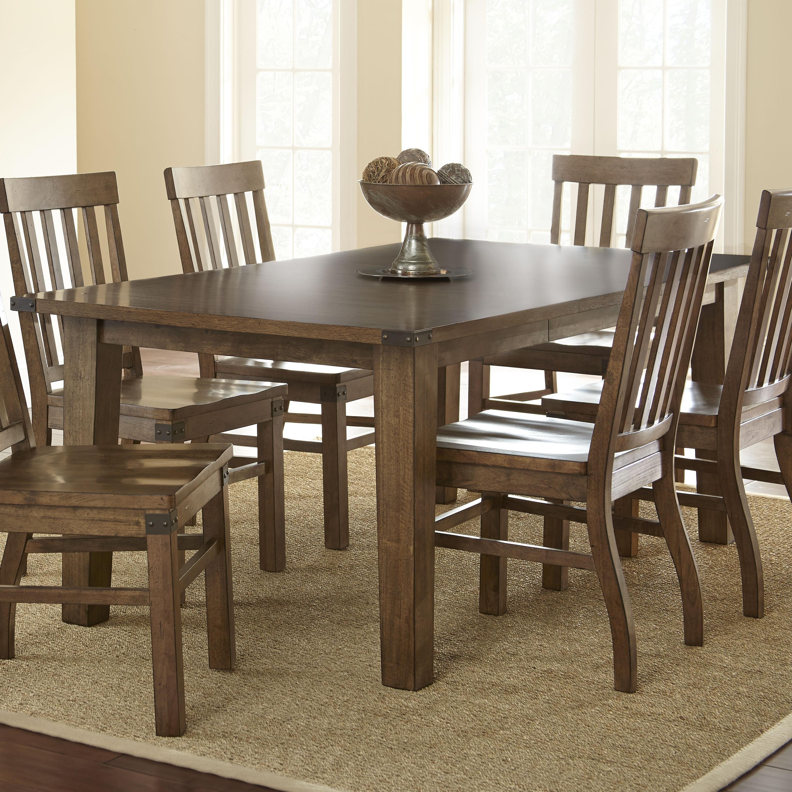 Steve silver hailee rectangular dining table with 18 leaf for Rectangular dining room tables with leaves