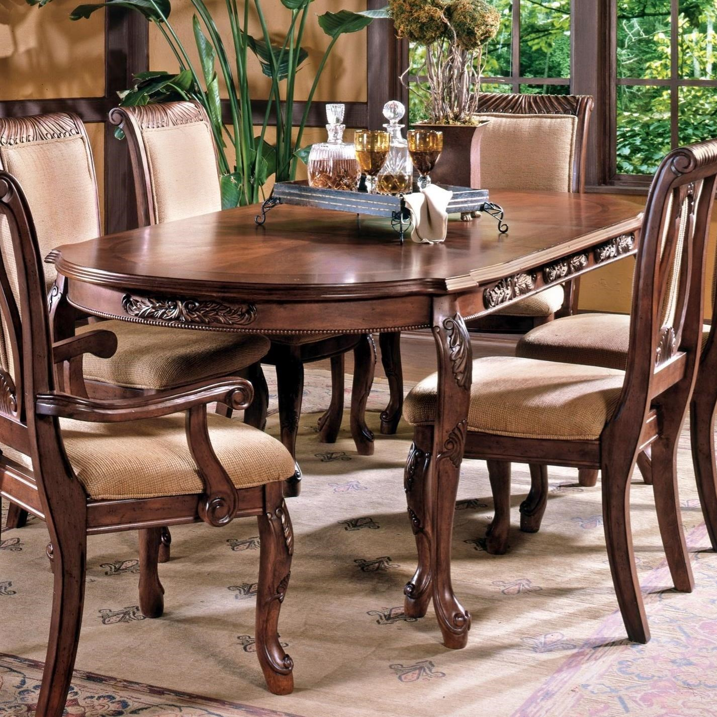steve silver harmony traditional cabriole leg dining table with 18 leaf knight furniture. Black Bedroom Furniture Sets. Home Design Ideas