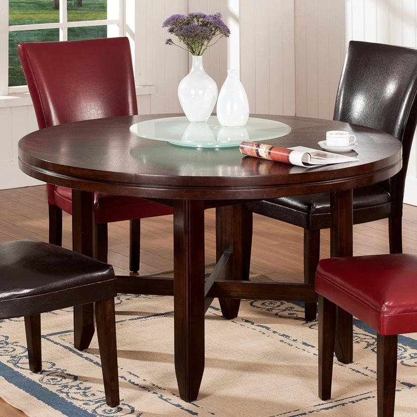 Steve silver hartford 52 round contemporary dining table for Round table 52 nordenham