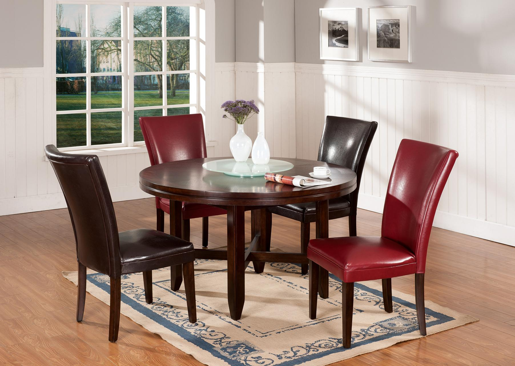 Vendor 3985 hartford 52 round contemporary dining table for Table 52 gaborone menu