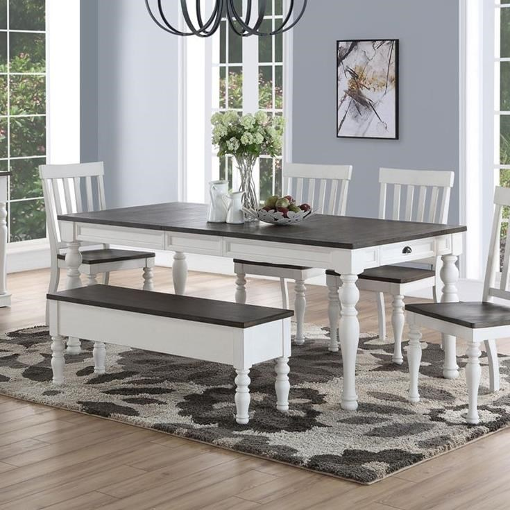steve silver joanna dining room table with turned legs knight furniture mattress dining tables. Black Bedroom Furniture Sets. Home Design Ideas