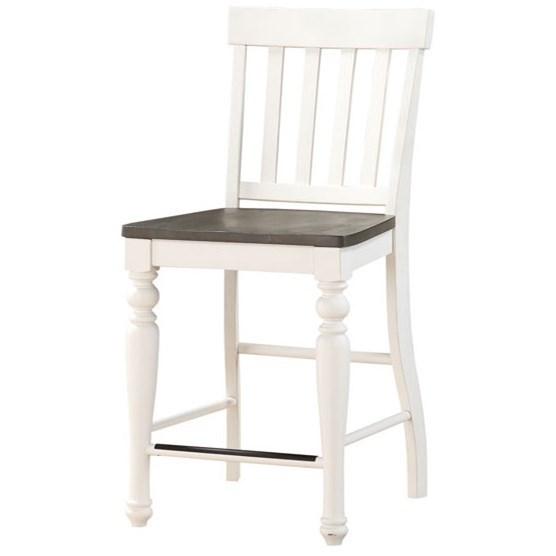 steve silver joanna counter height stool with slat backrest standard furniture bar stools. Black Bedroom Furniture Sets. Home Design Ideas