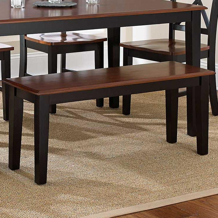 Vendor 3985 Kingston Nt300bnk Casual Two Tone 2 Seat Dining Bench Becker Furniture World