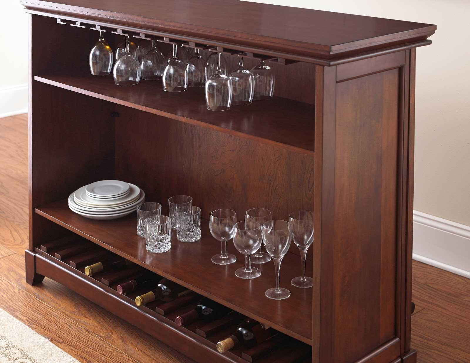 Steve Silver Martinez Counter Height Bar Unit with Open Back Storage ...