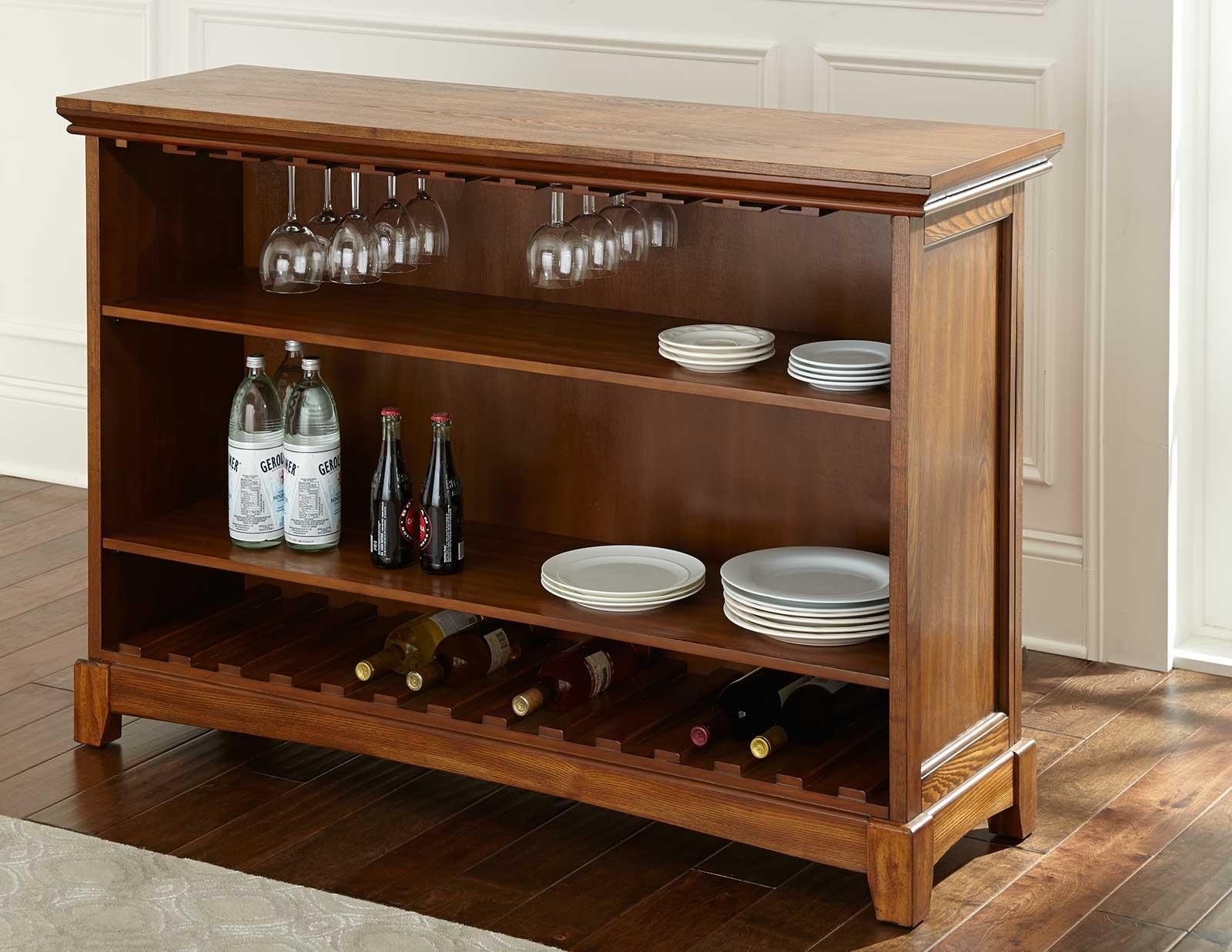 Martinez bar height unit with open back storage morris for Morris home