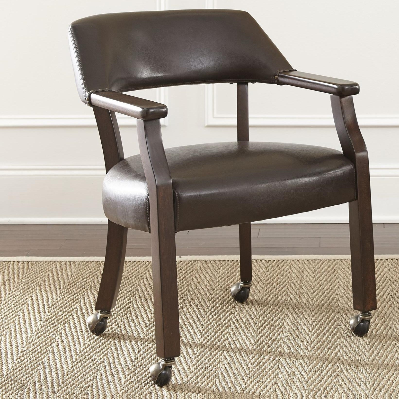 Vendor 3985 Morris Captain s Game Chair with Casters Becker Furniture W