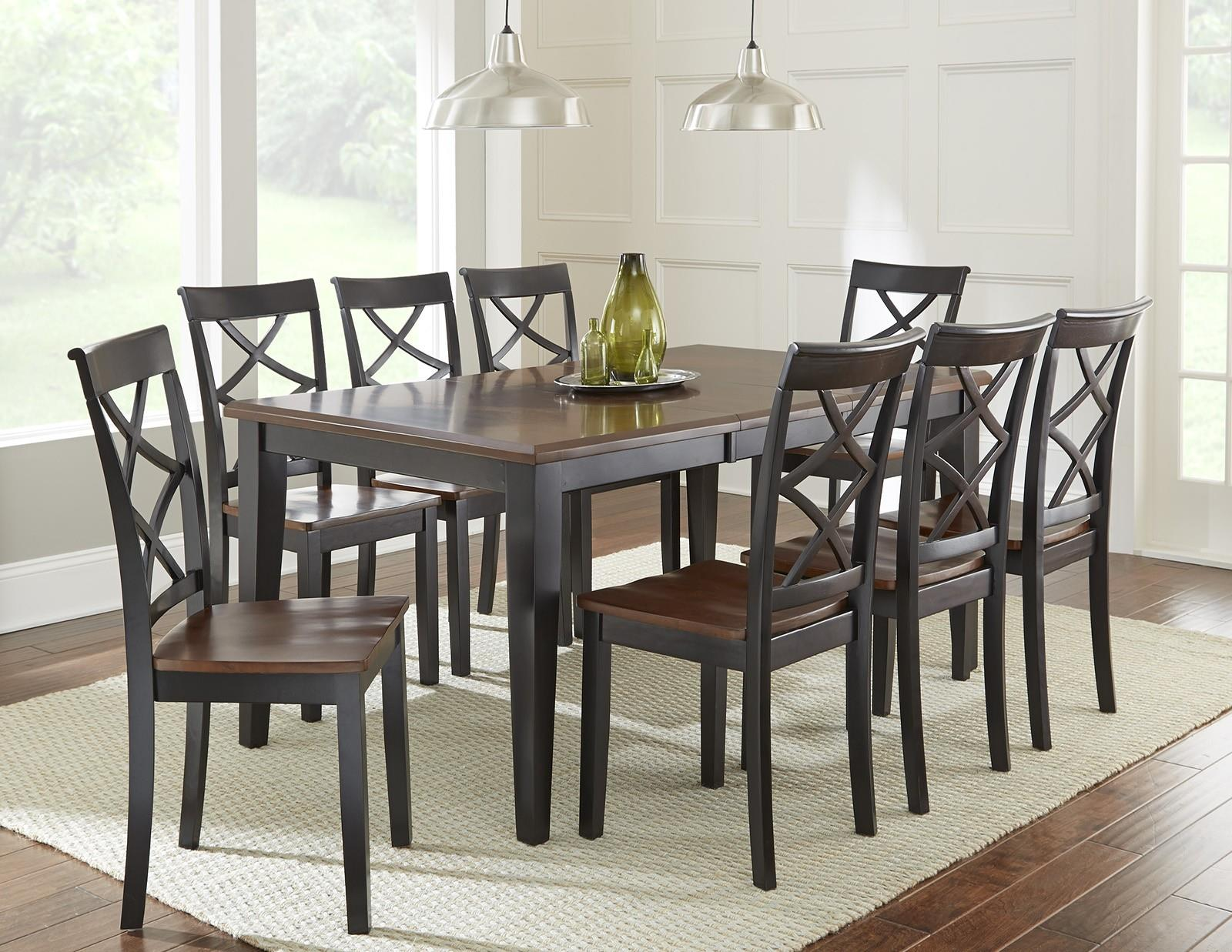 Belfort Essentials Rani 9 Piece Dining Set With Two Tone