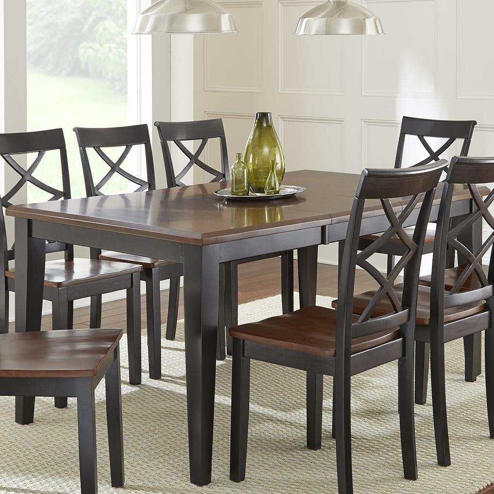 steve silver rani two tone brown black dining table