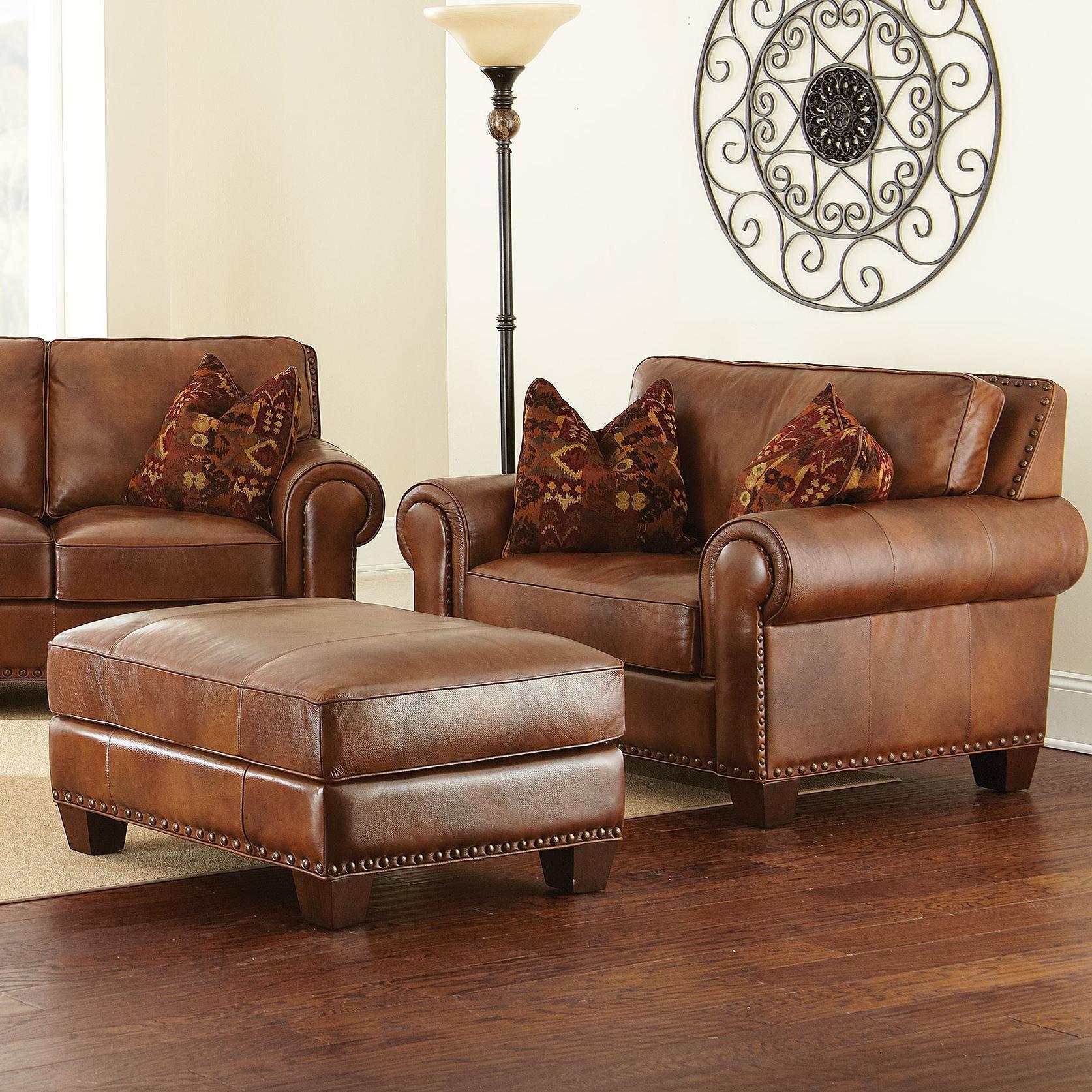 Vendor 3985 Silverado Chair and a Half with Ottoman and