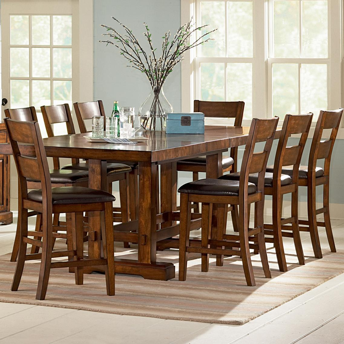 steve silver zappa 9 piece counter height table chair set wayside furniture pub table and. Black Bedroom Furniture Sets. Home Design Ideas