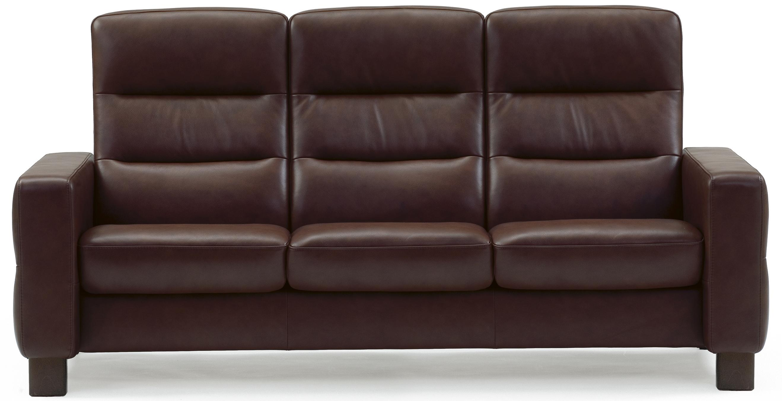 stressless wave high back reclining sofa rotmans reclining sofas. Black Bedroom Furniture Sets. Home Design Ideas