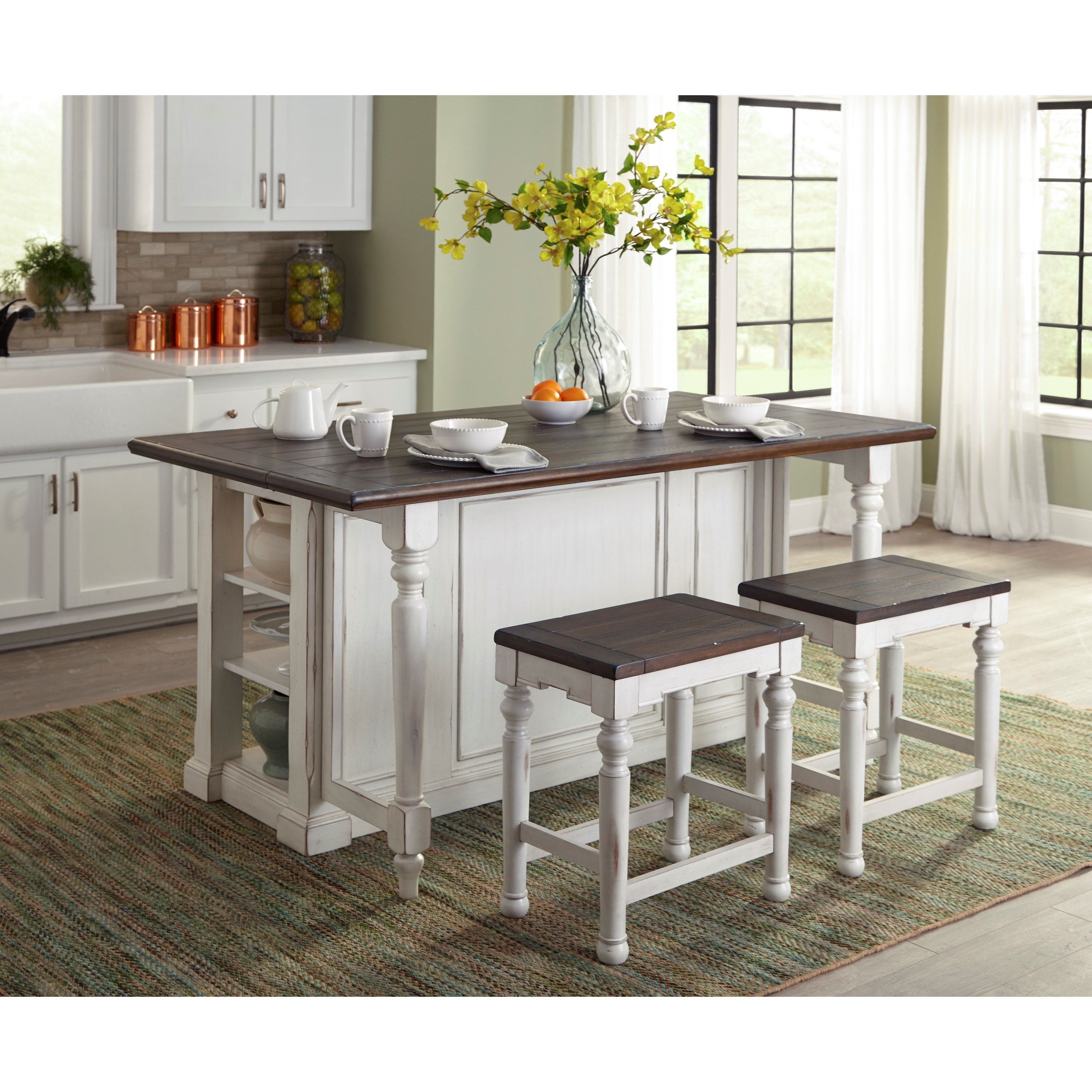 two tone kitchen island designs bourbon county two tone kitchen island with 6437