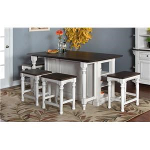 morris home furnishings fairbanks fairbanks 3 piece kitchen island set