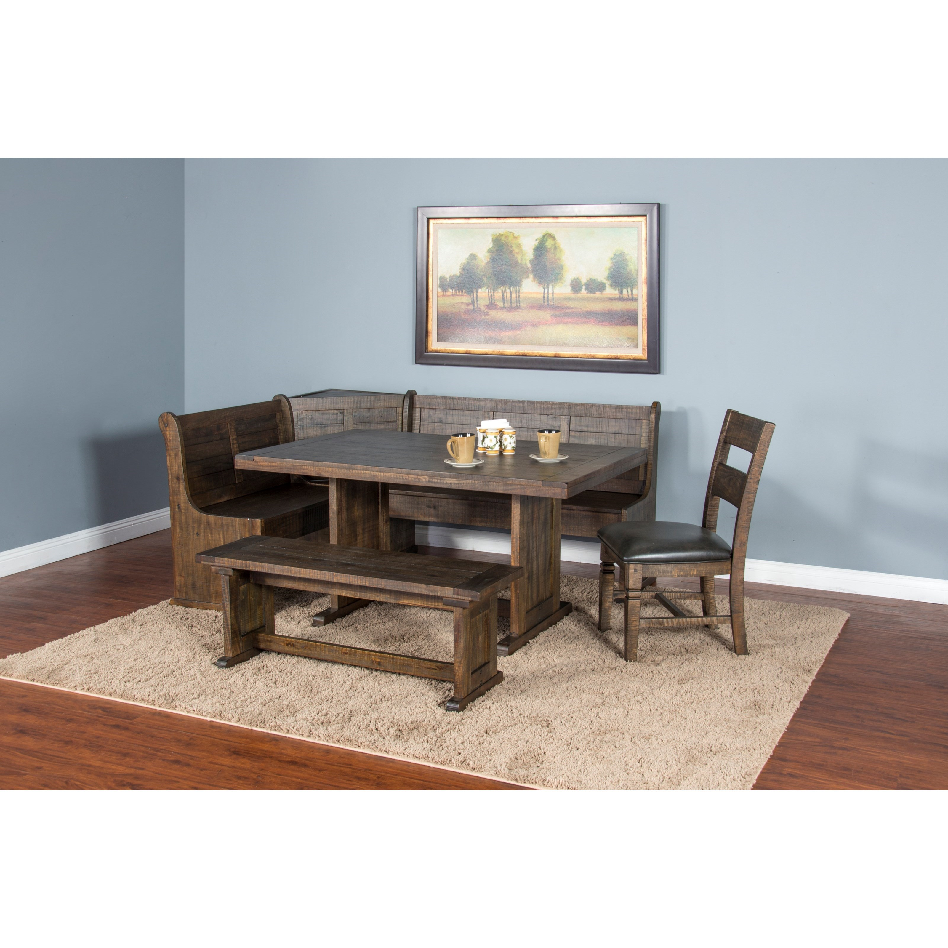 Sunny designs homestead 0113tl t rustic style table with for Homestead furniture and appliances