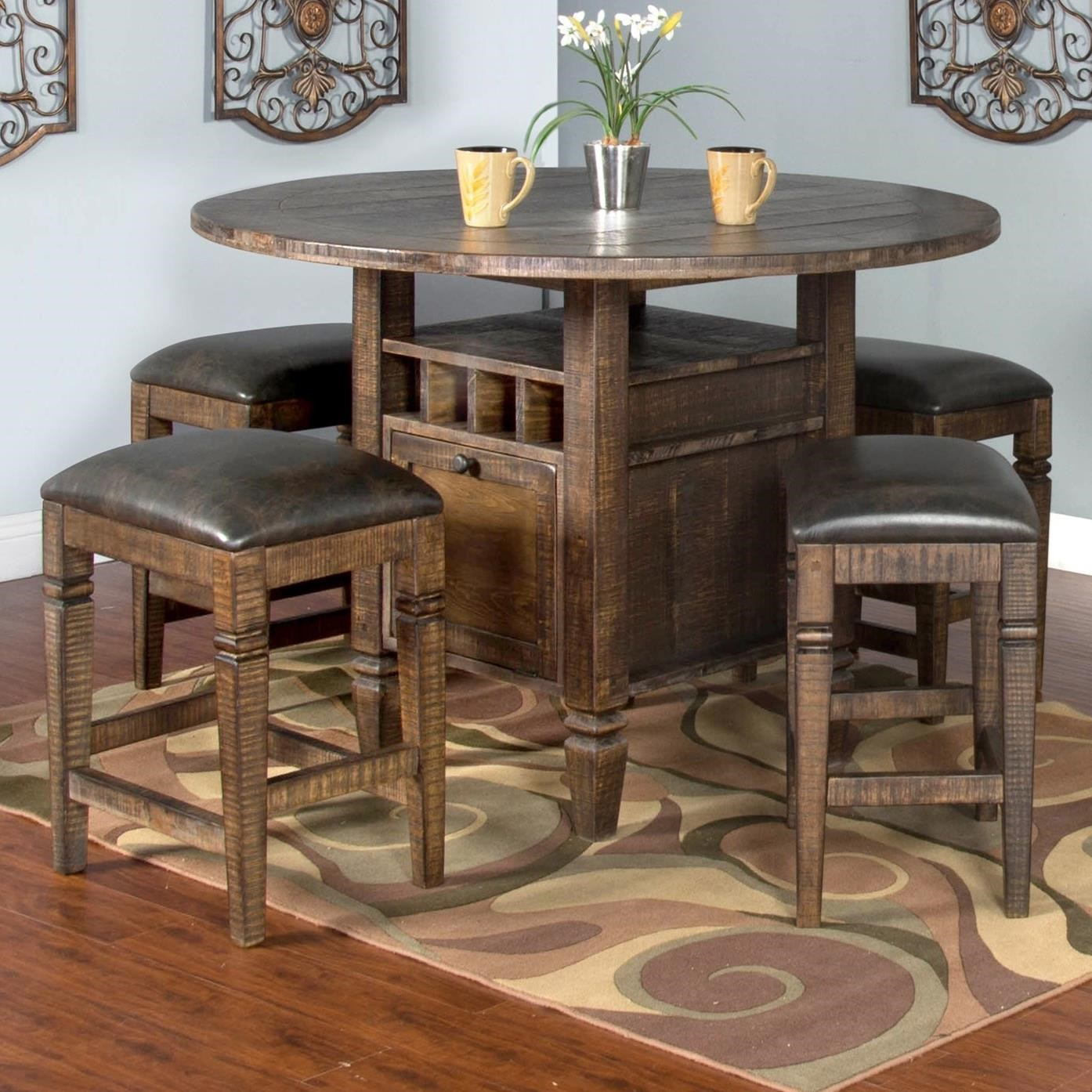 Sunny designs homestead 5 piece counter height table set for Homestead furniture and appliances