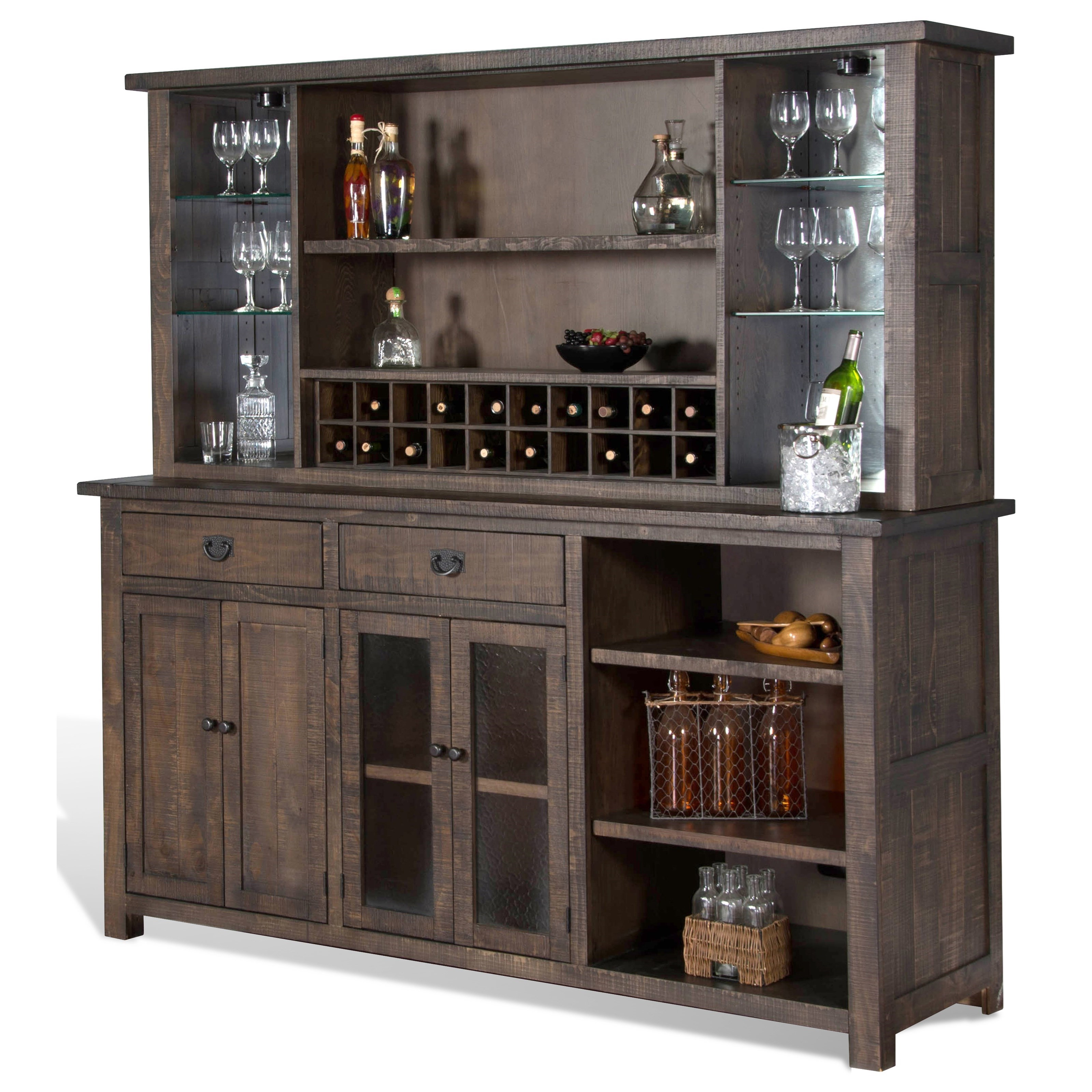 Sunny designs homestead 1969tl back bar furniture and for Homestead furniture and appliances