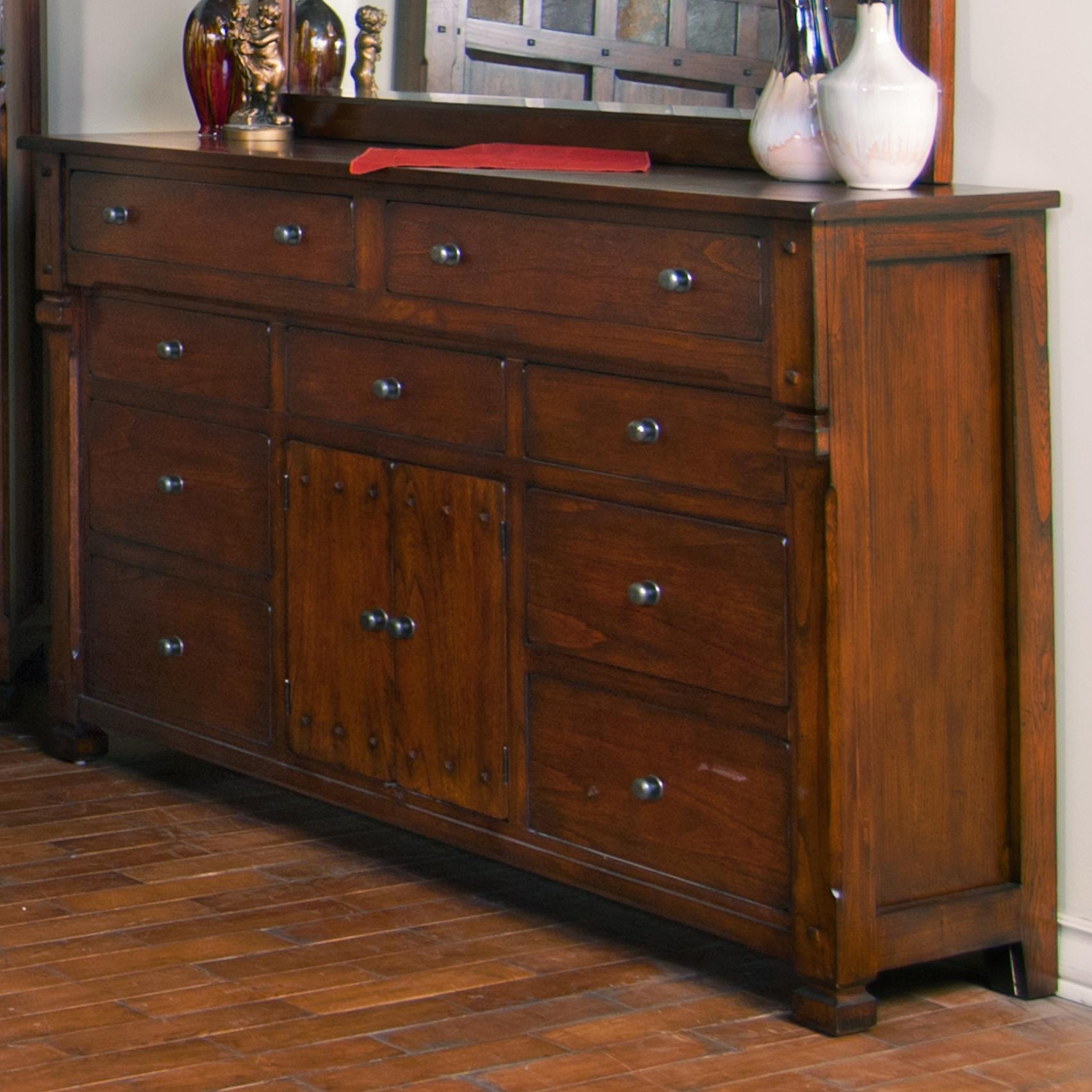 Sunny designs santa fe 9 drawer 2 door dresser fashion furniture dressers for Sunny designs bedroom furniture
