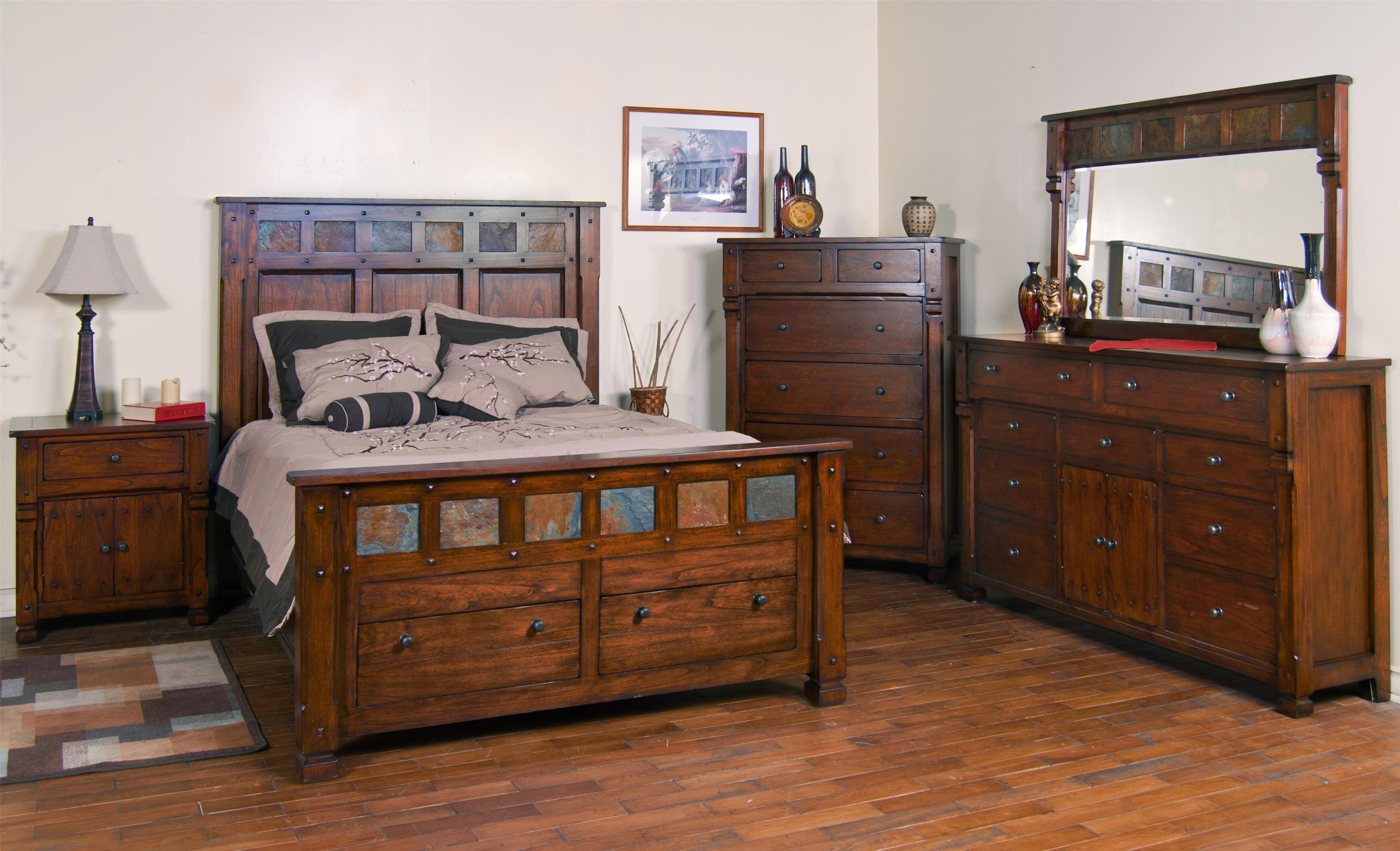 Santa Fe King Storage Bed With Slate By Sunny Designs