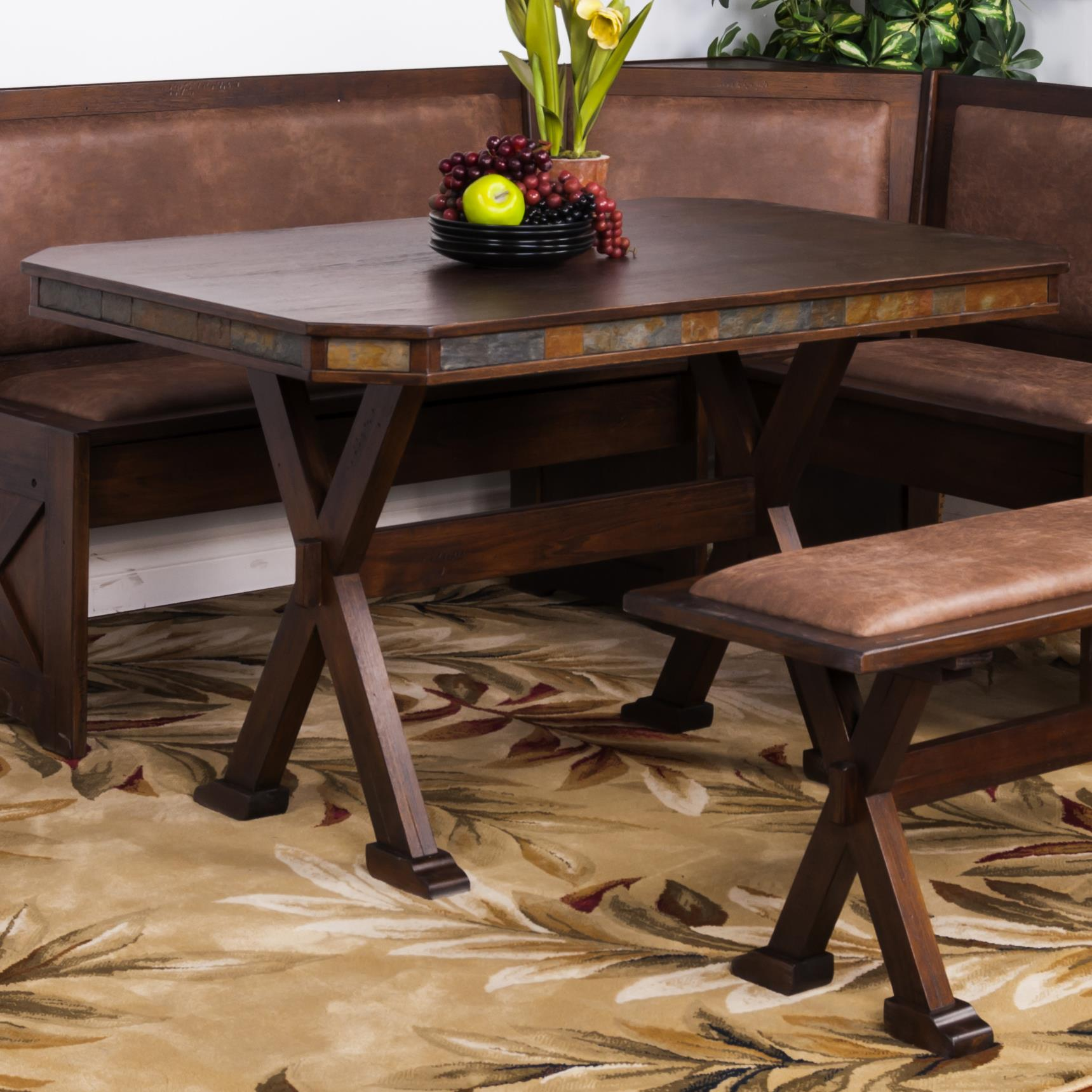 Sunny designs savannah table w x base knight furniture for Kitchen table base ideas