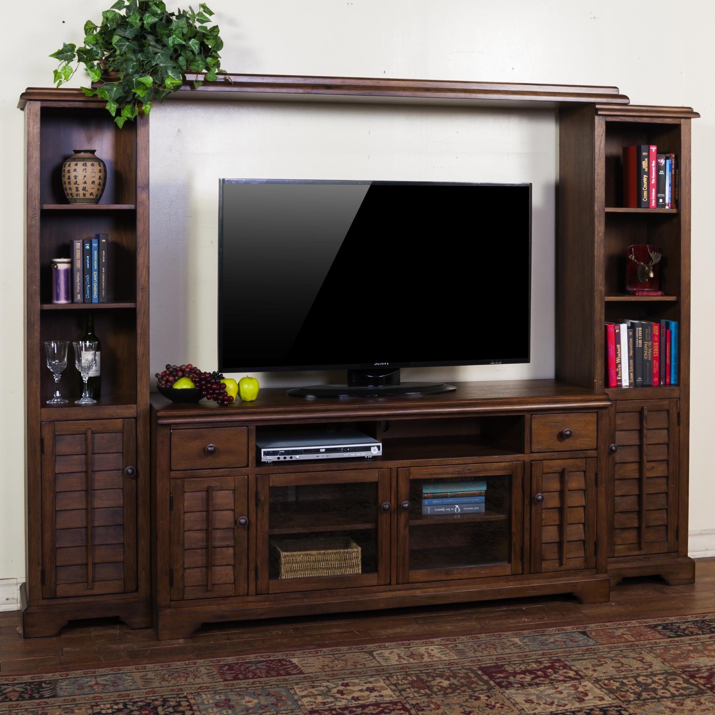 Sunny designs savannah entertainment wall unit w 65 w tv for Furniture 65
