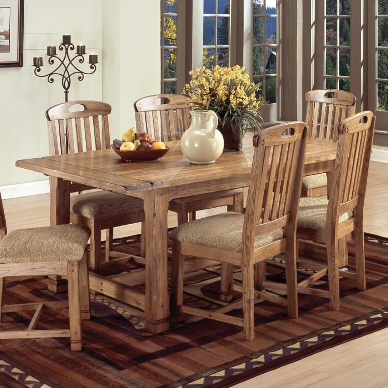 Sunny Designs Sedona Solid Oak Top Extension Table with 2