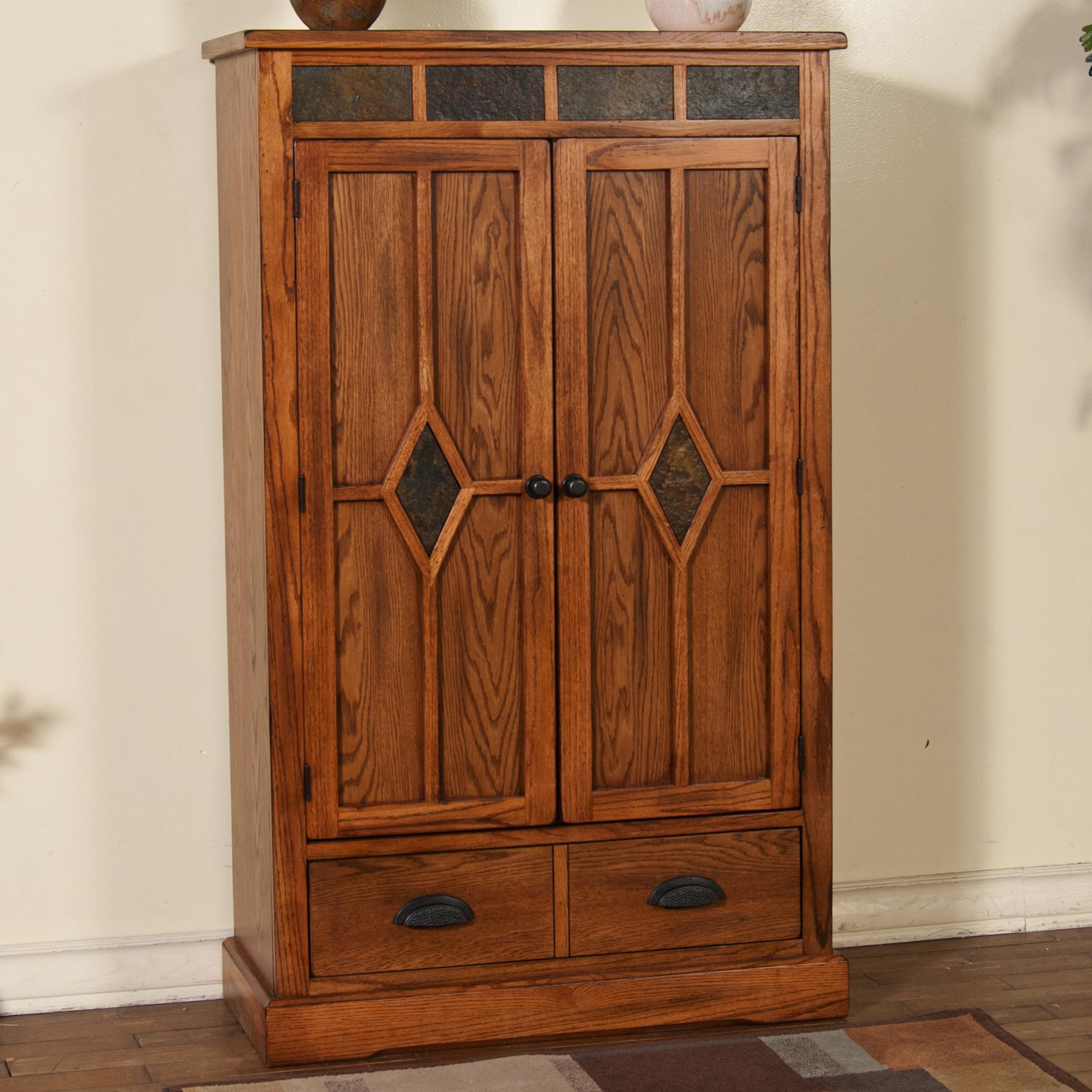 Sunny Designs Sedona Oak Pantry with Slate Dunk & Bright