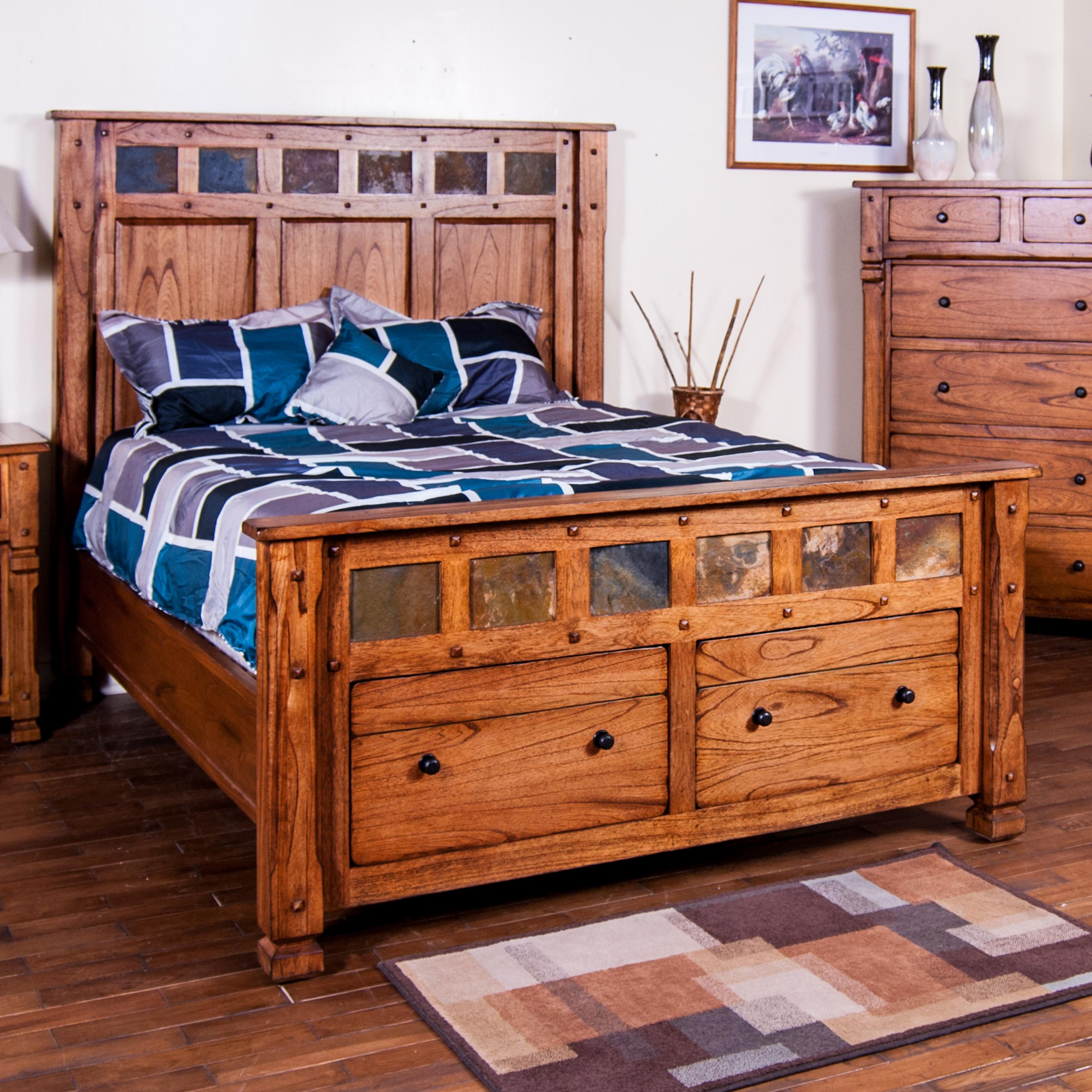 Sedona King Bed w Storage in Footboard by Sunny Designs