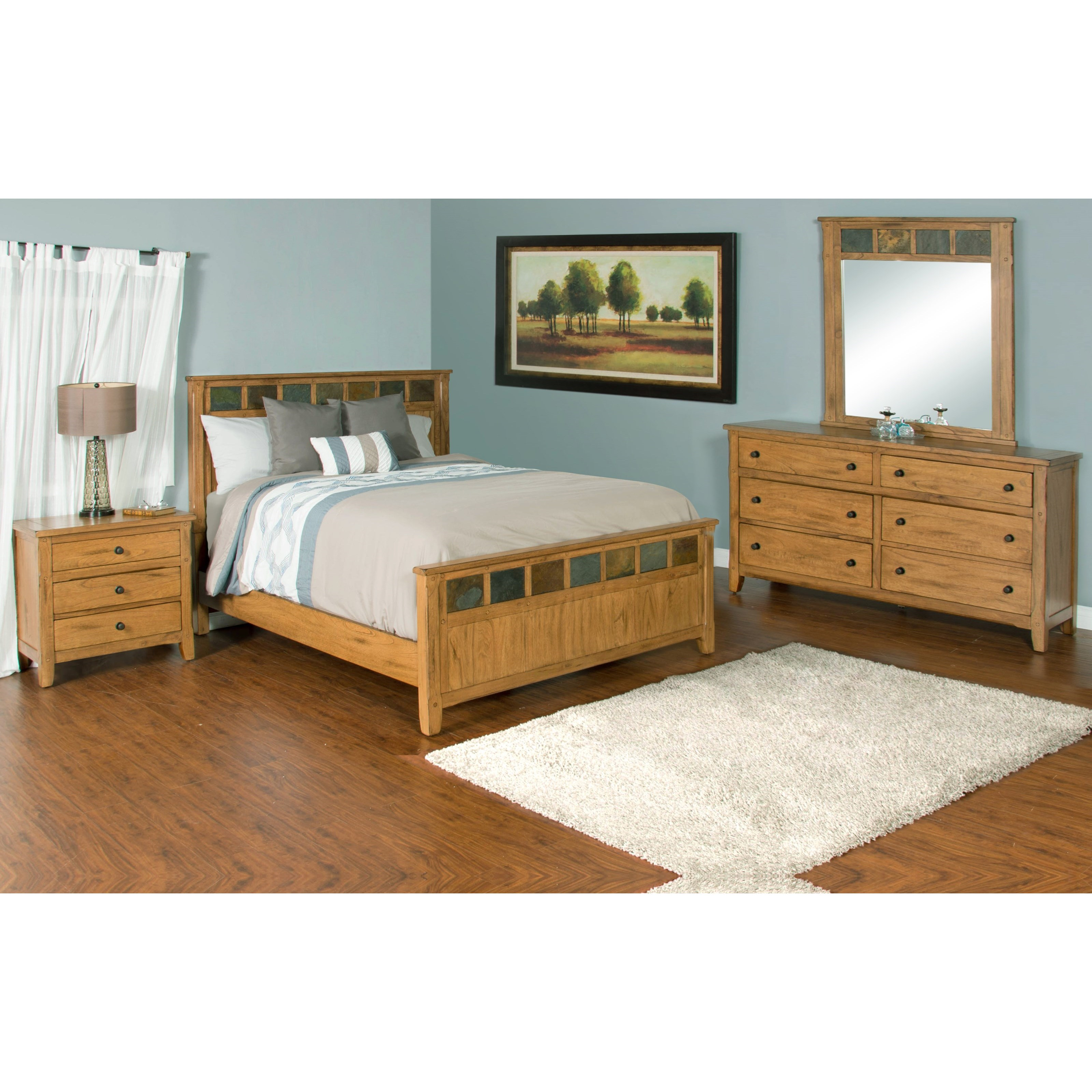 Sunny designs sedona night stand with 3 drawers conlin 39 s furniture night stands for Sunny designs bedroom furniture