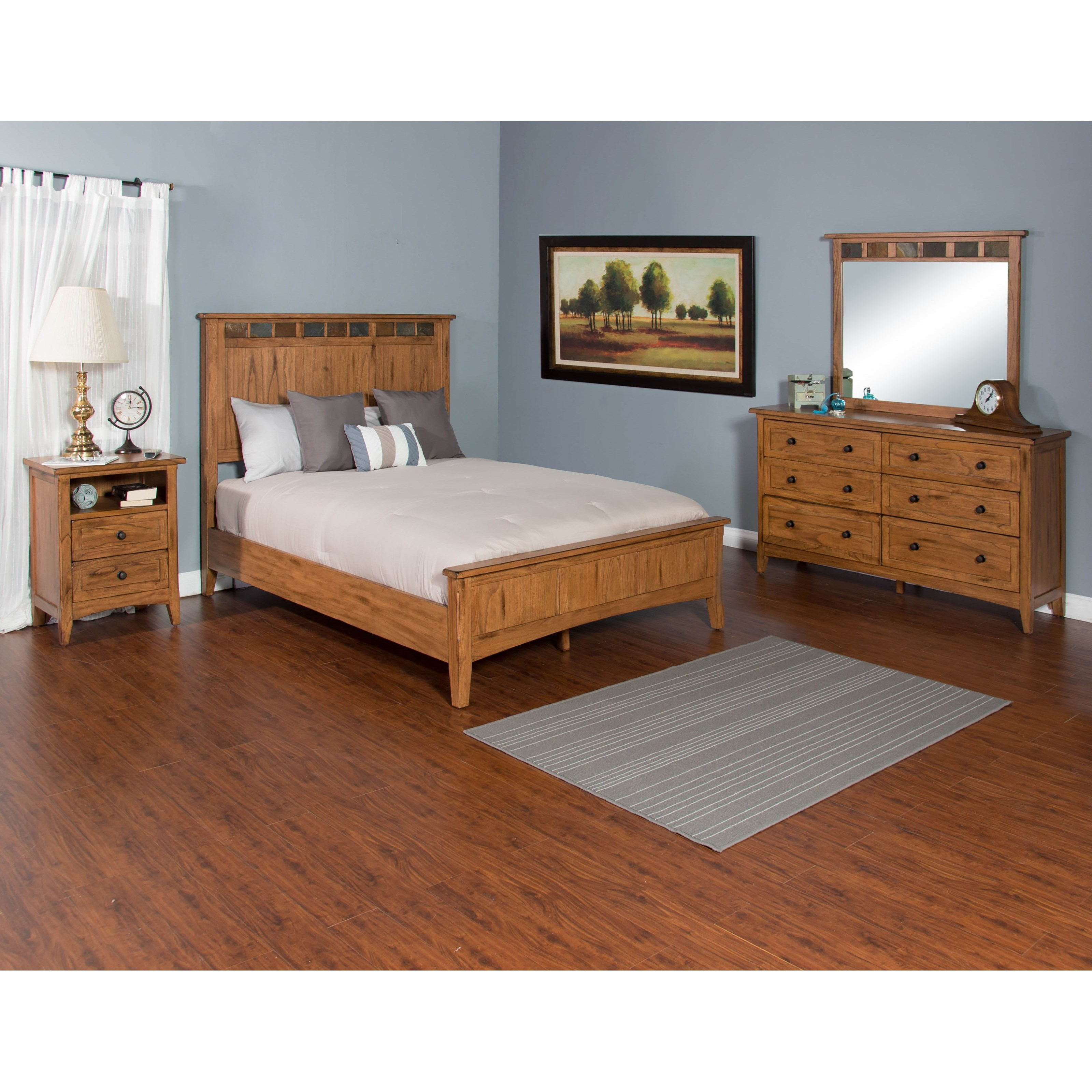 Sunny designs sedona queen bedroom group zak 39 s fine for Bedroom furniture groups