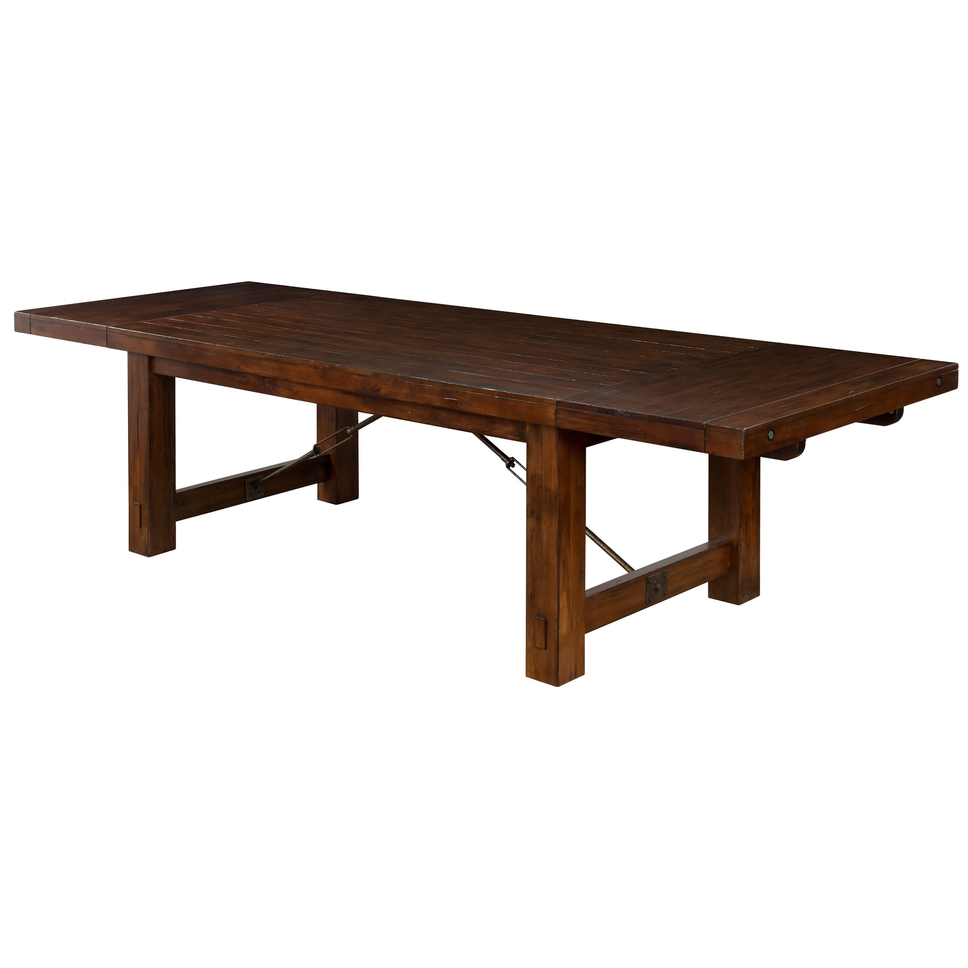 Sunny Designs Tuscany Distressed Mahogany Extension Table
