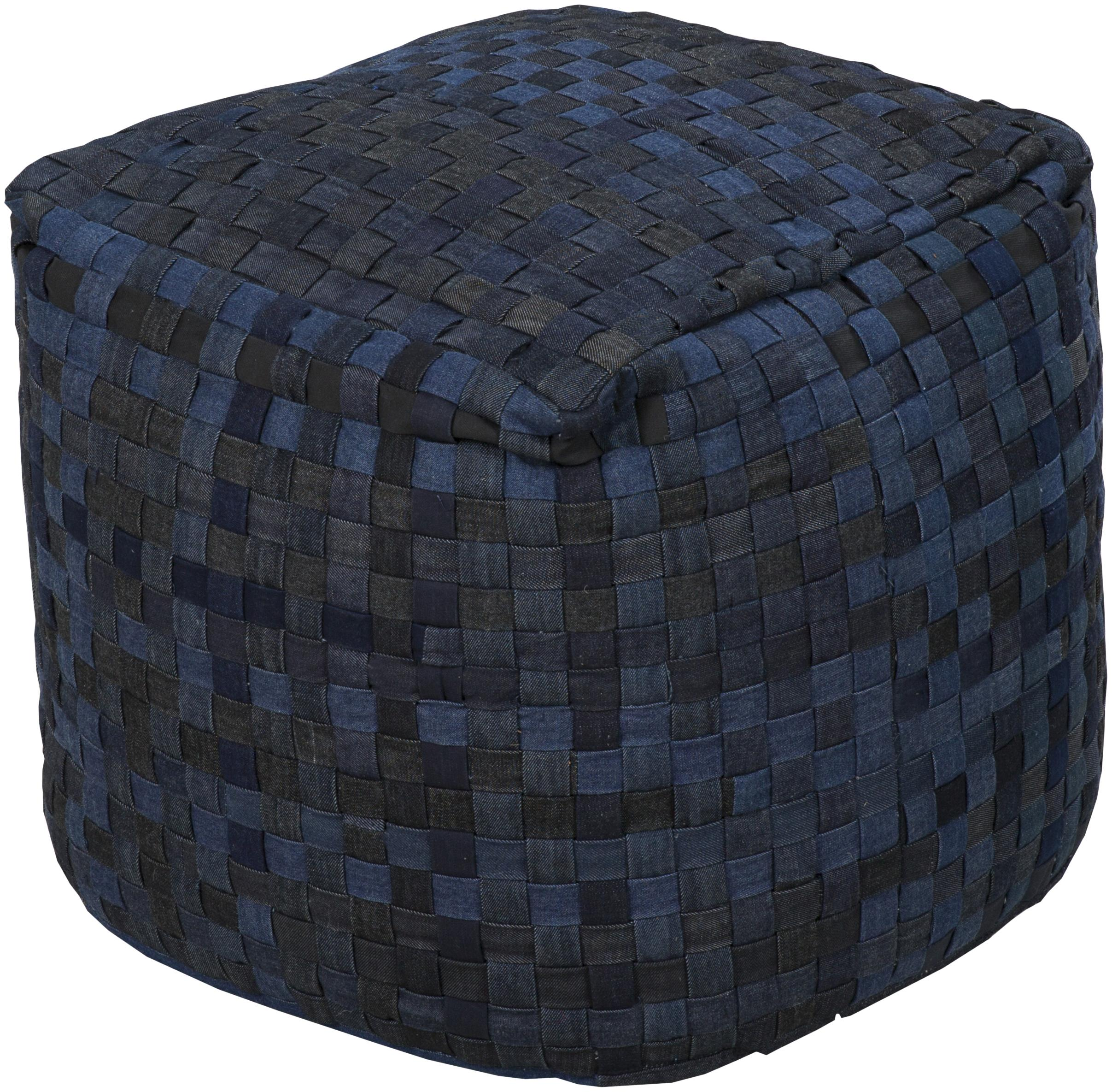 surya poufs pouf 103 18 x18 x18 pouf del sol furniture textiles poufs. Black Bedroom Furniture Sets. Home Design Ideas
