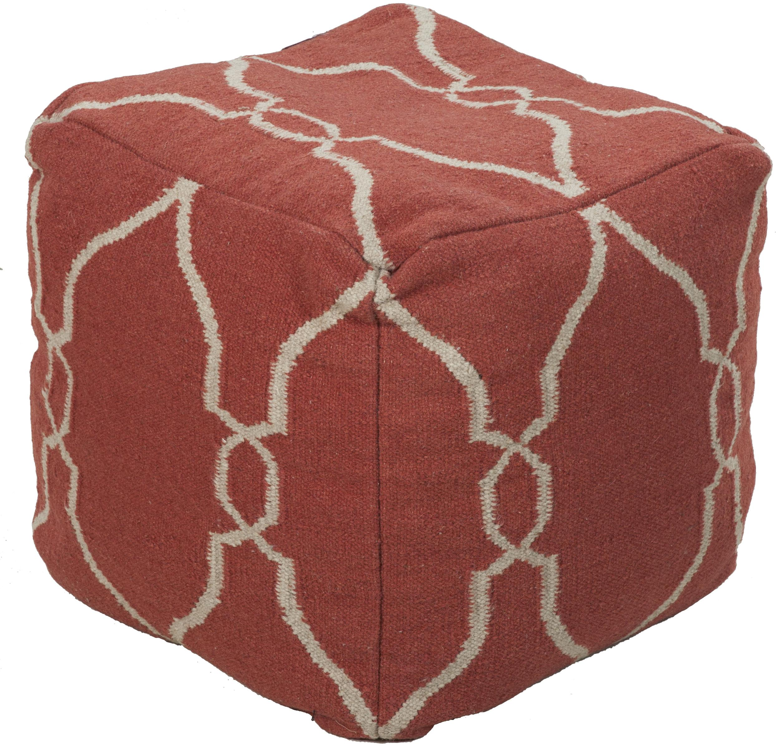 poufs 18 x18 x18 pouf by surya rugs wolf furniture. Black Bedroom Furniture Sets. Home Design Ideas