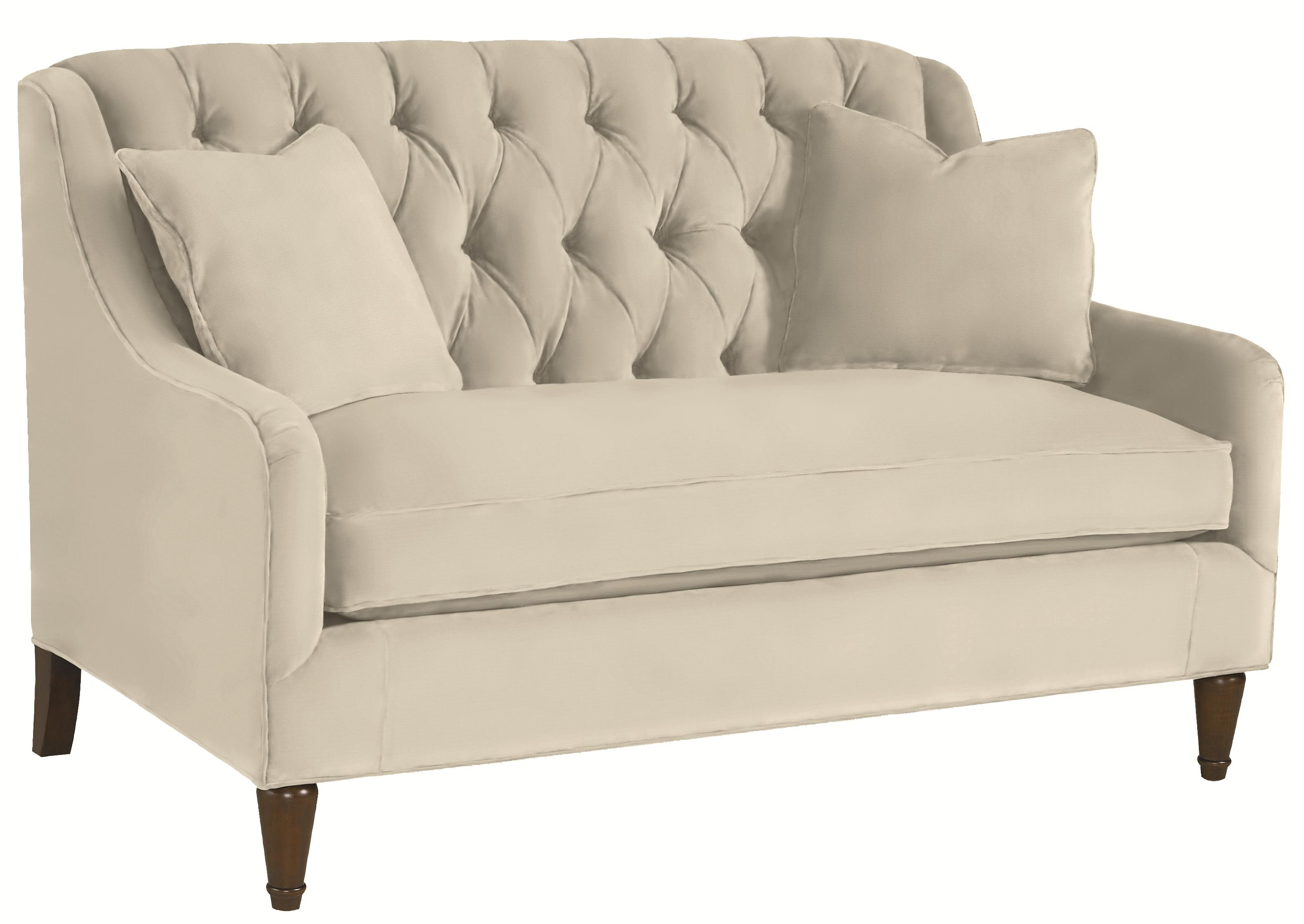 Thomasville barcelona tufted back settee sofa darvin for Pink sofa login