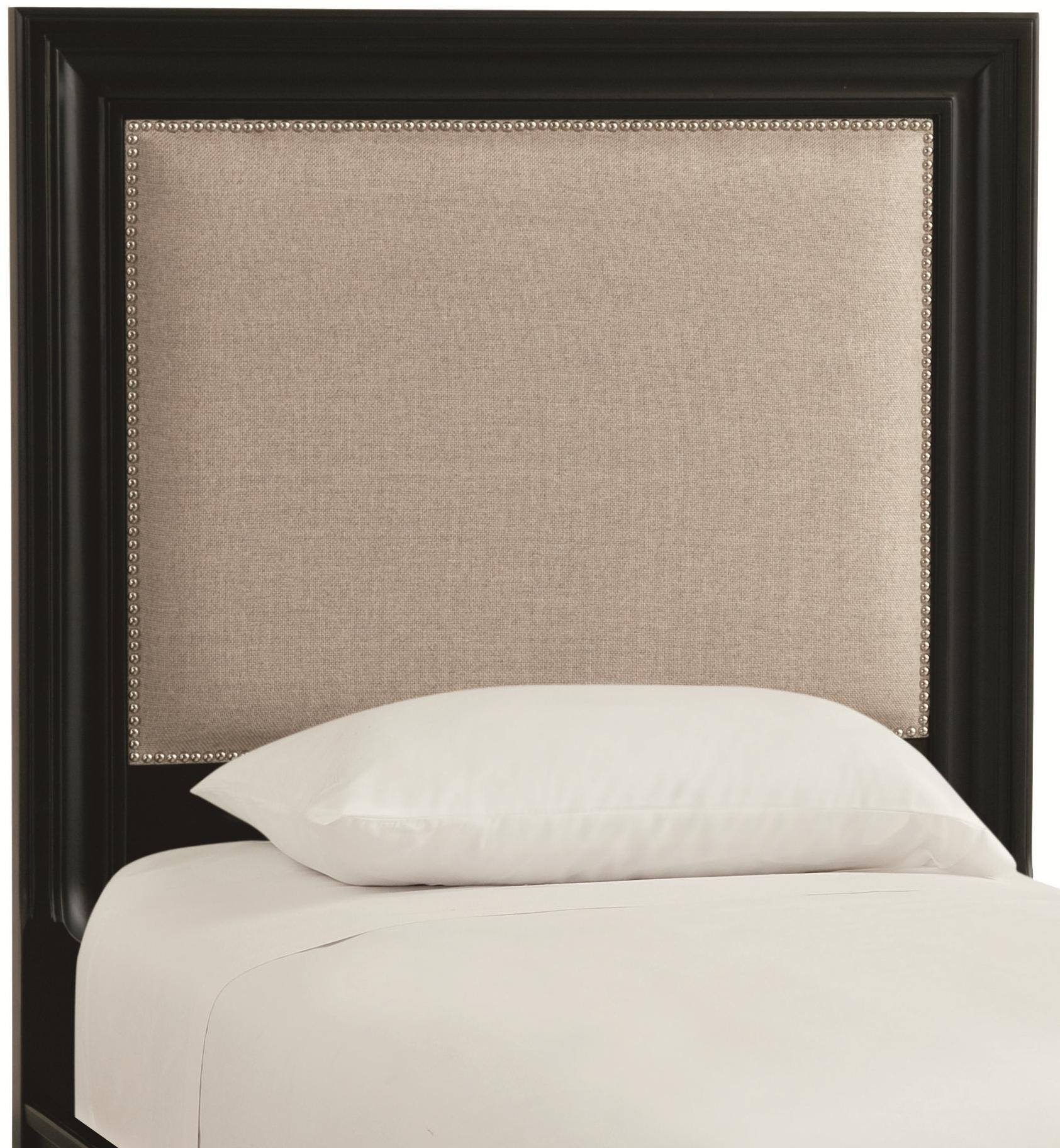 Thomasville manuscript 82919 433 twin upholstered for Make a twin headboard