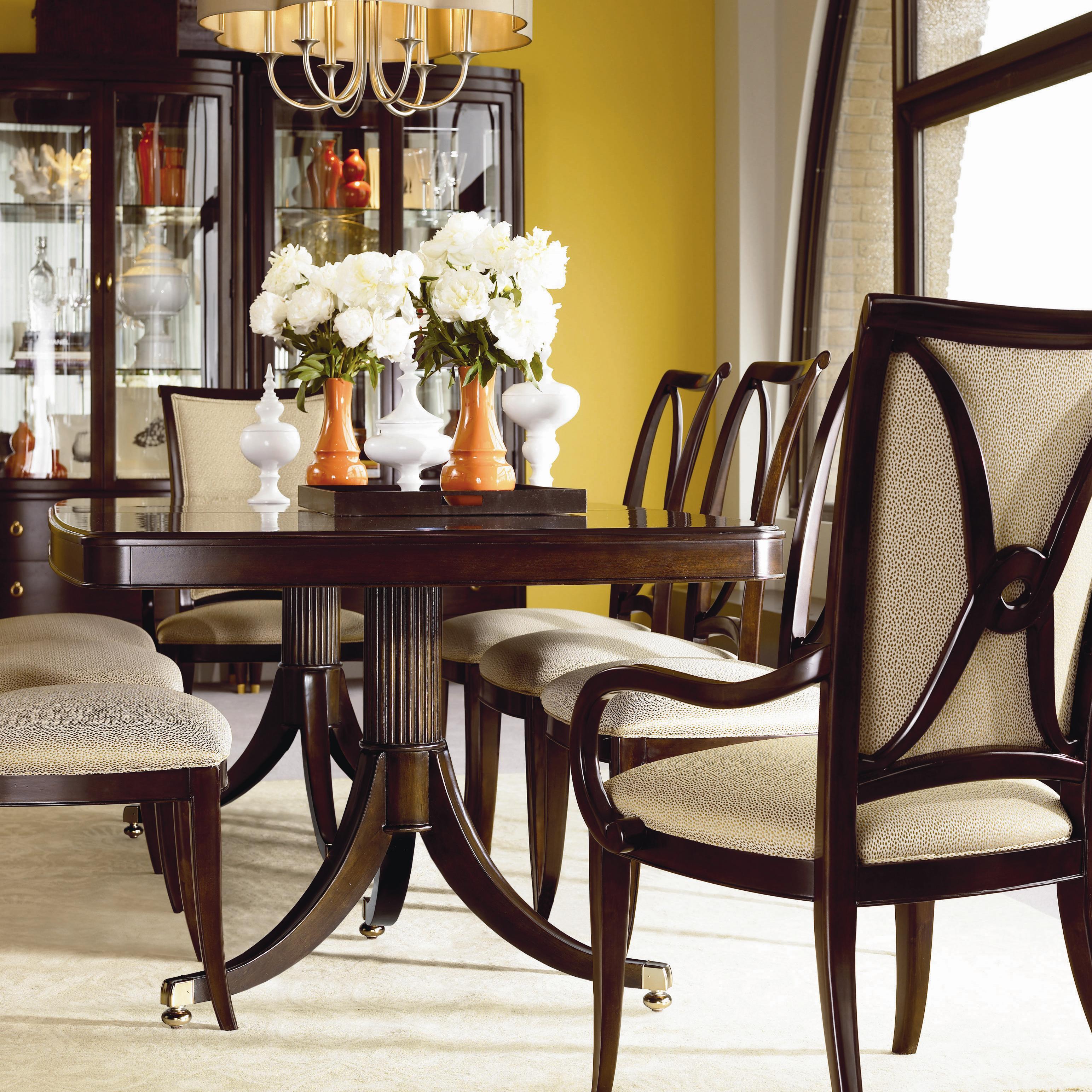 thomasville studio 455 45521 772 double pedestal dining table dunk bright furniture. Black Bedroom Furniture Sets. Home Design Ideas