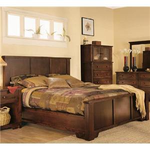 thornwood mendocino queen size panel bed