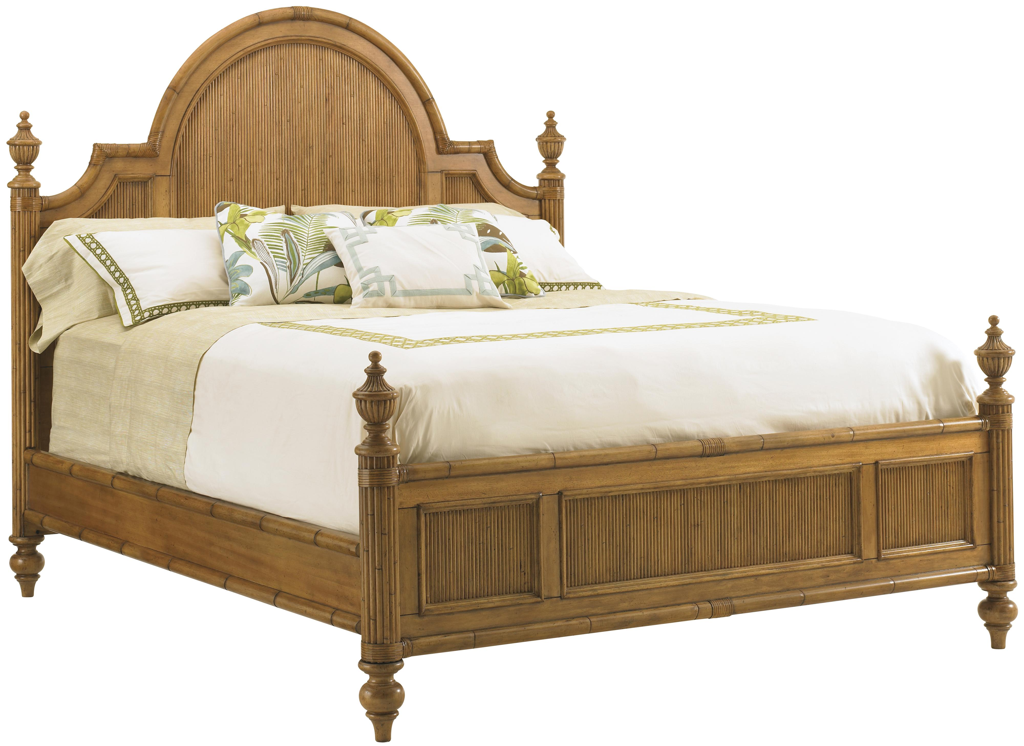 Tommy Bahama Home Beach House 540 133c Queen Size Belle Isle Headboard Footboard Bed With