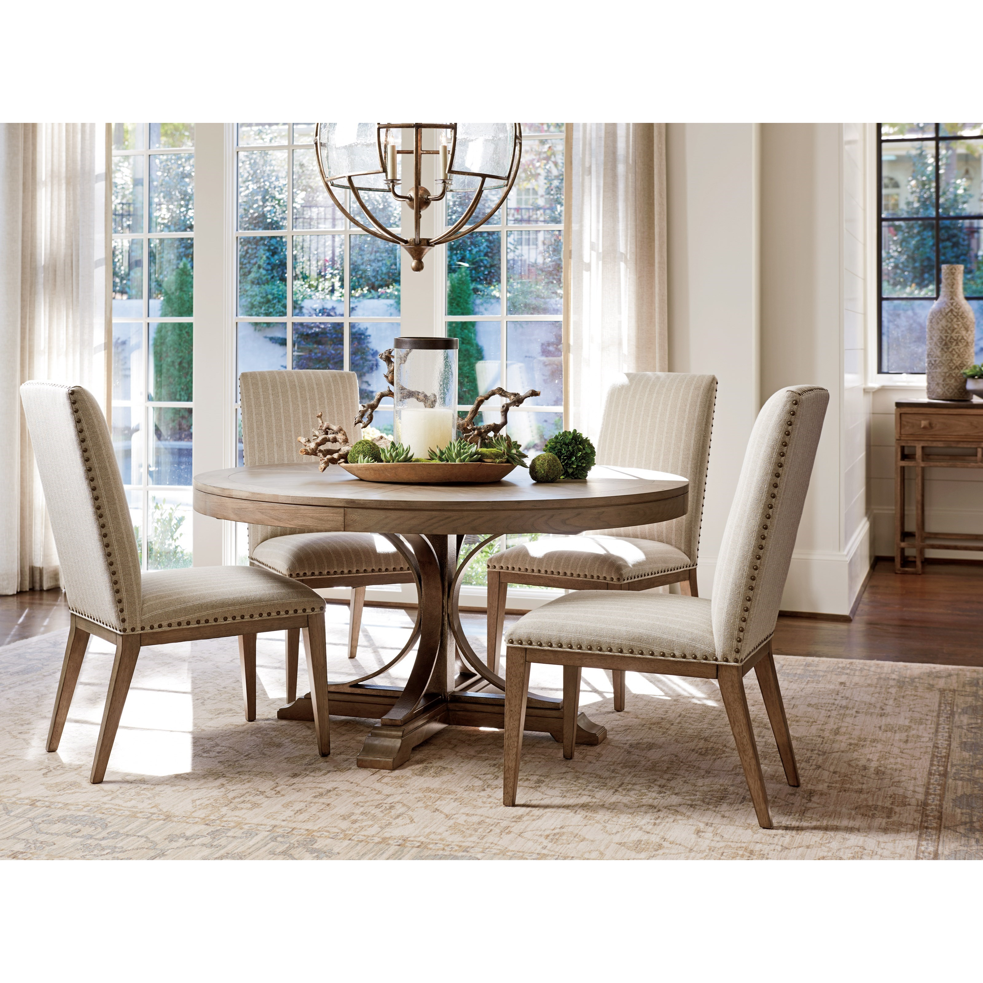 tommy bahama home cypress point 561 875c atwell round dining table with extension leaf baer 39 s. Black Bedroom Furniture Sets. Home Design Ideas
