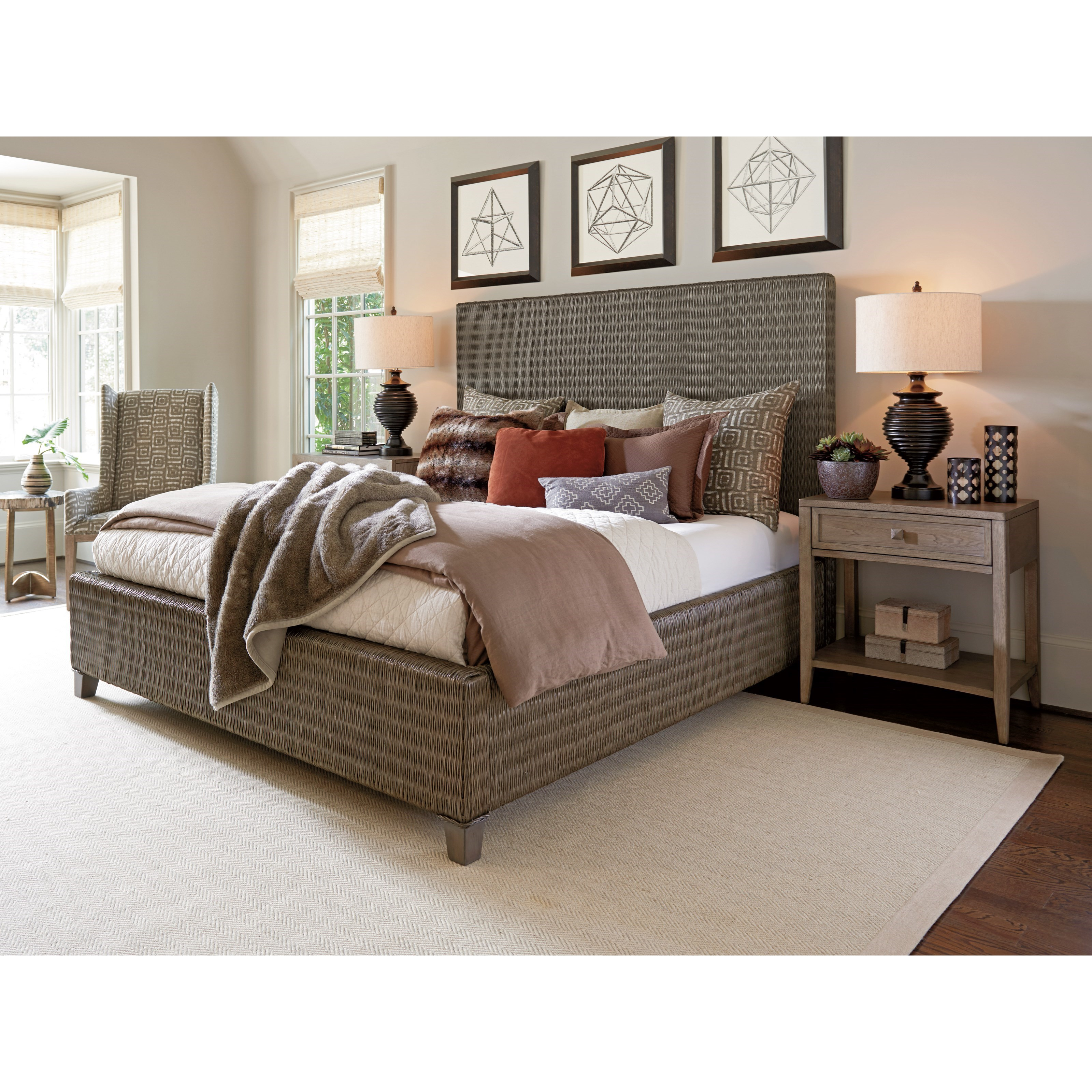Tommy bahama home cypress point queen bedroom group baer Tommy bahama bedroom furniture sets